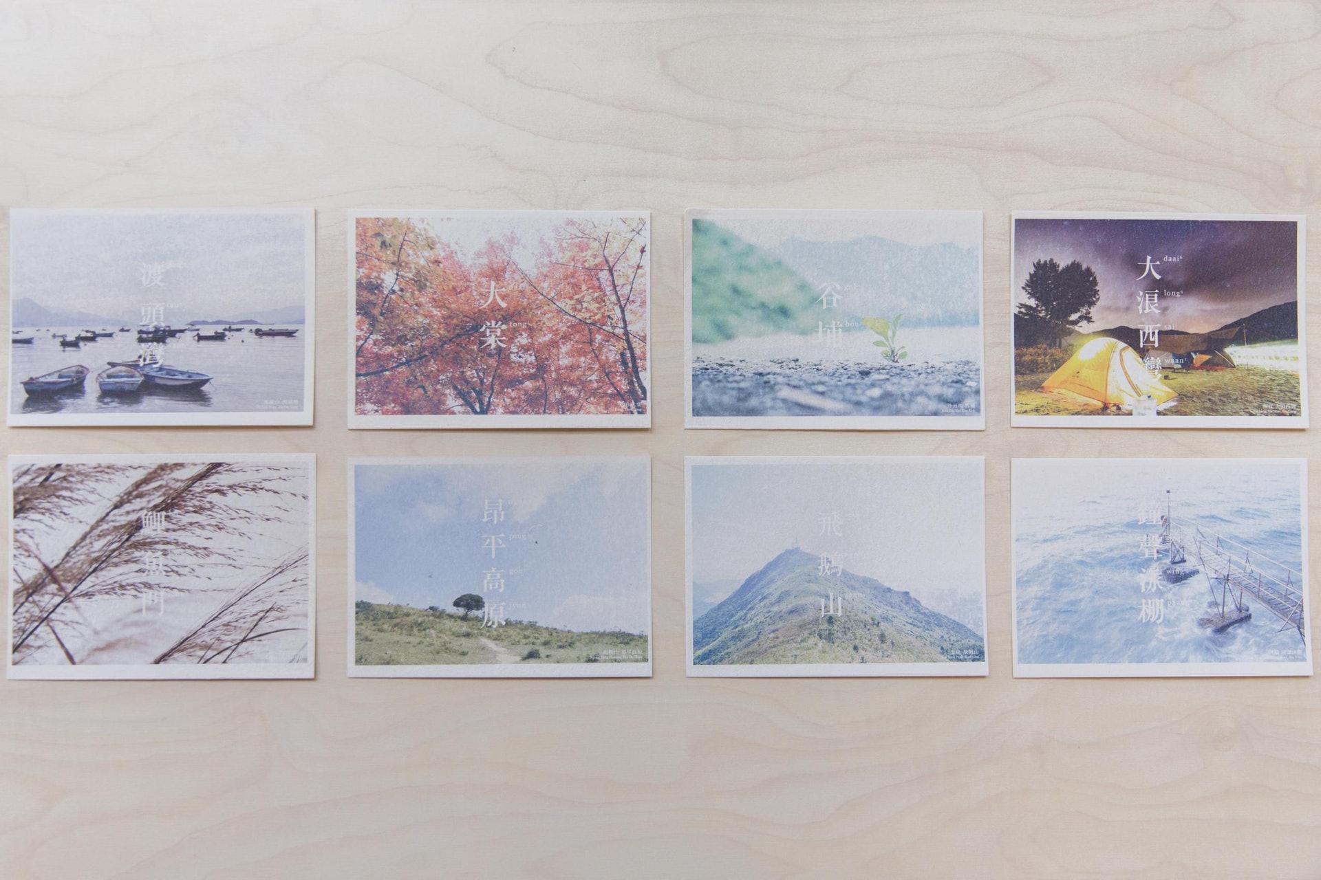 V'air在去年10月推出「香港隱世景點明信片」,主力向外國朋友推介香港繁華以外的一面。(梁鵬威攝)