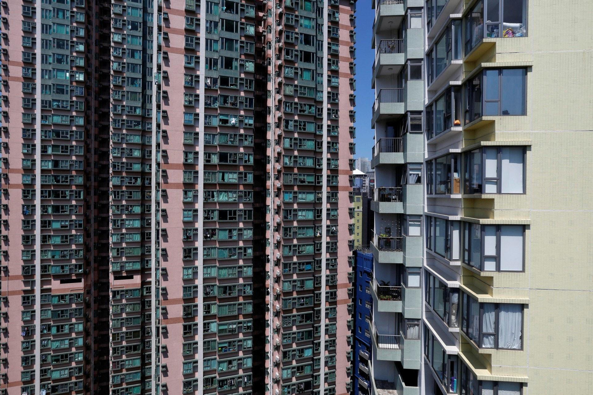中小型住宅樓價在截至2月底的6個月間升6.9%,與往績相比相對溫和。﹙路透社﹚
