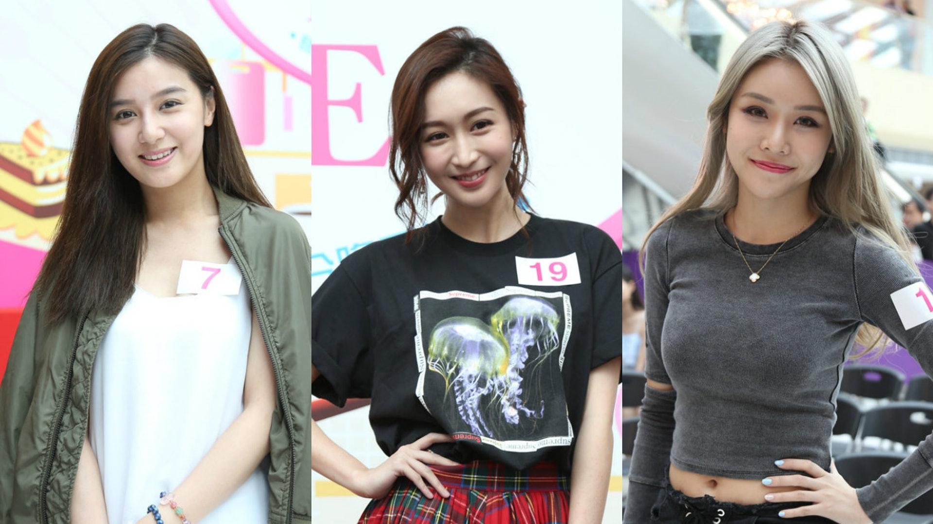 全場最靚就梗係呢3位啦,由左起Crystal Law,Lokyii,Elsie Chan。其中阿Bob同阿蕭仲大讚Lokyii靚女㗎。(黃國立攝)