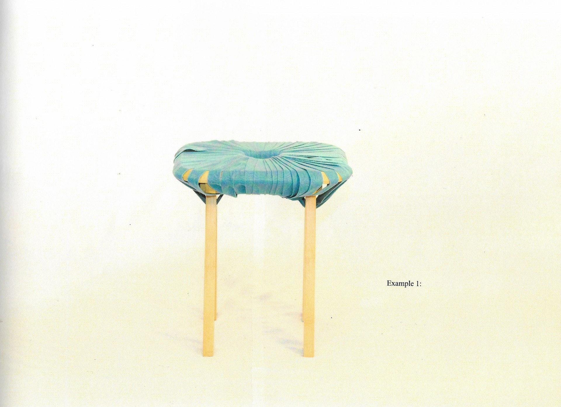 畢業那年Kat以竹板和麻繩作為材料,設計出多型態的椅子,宣揚節約等於環保的理念,作為她final year project的題目。(圖片由受訪者提供)
