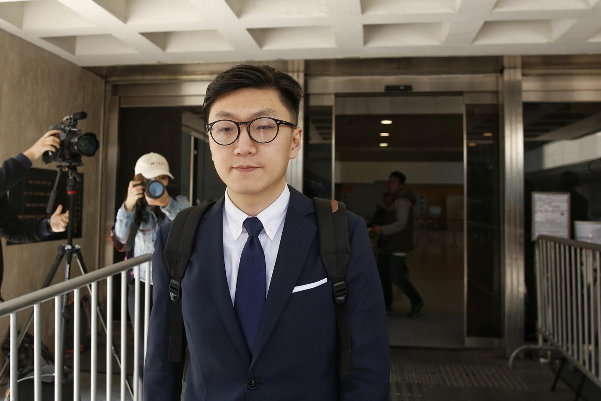 梁天琦被判囚6年。(�Y料�D片)