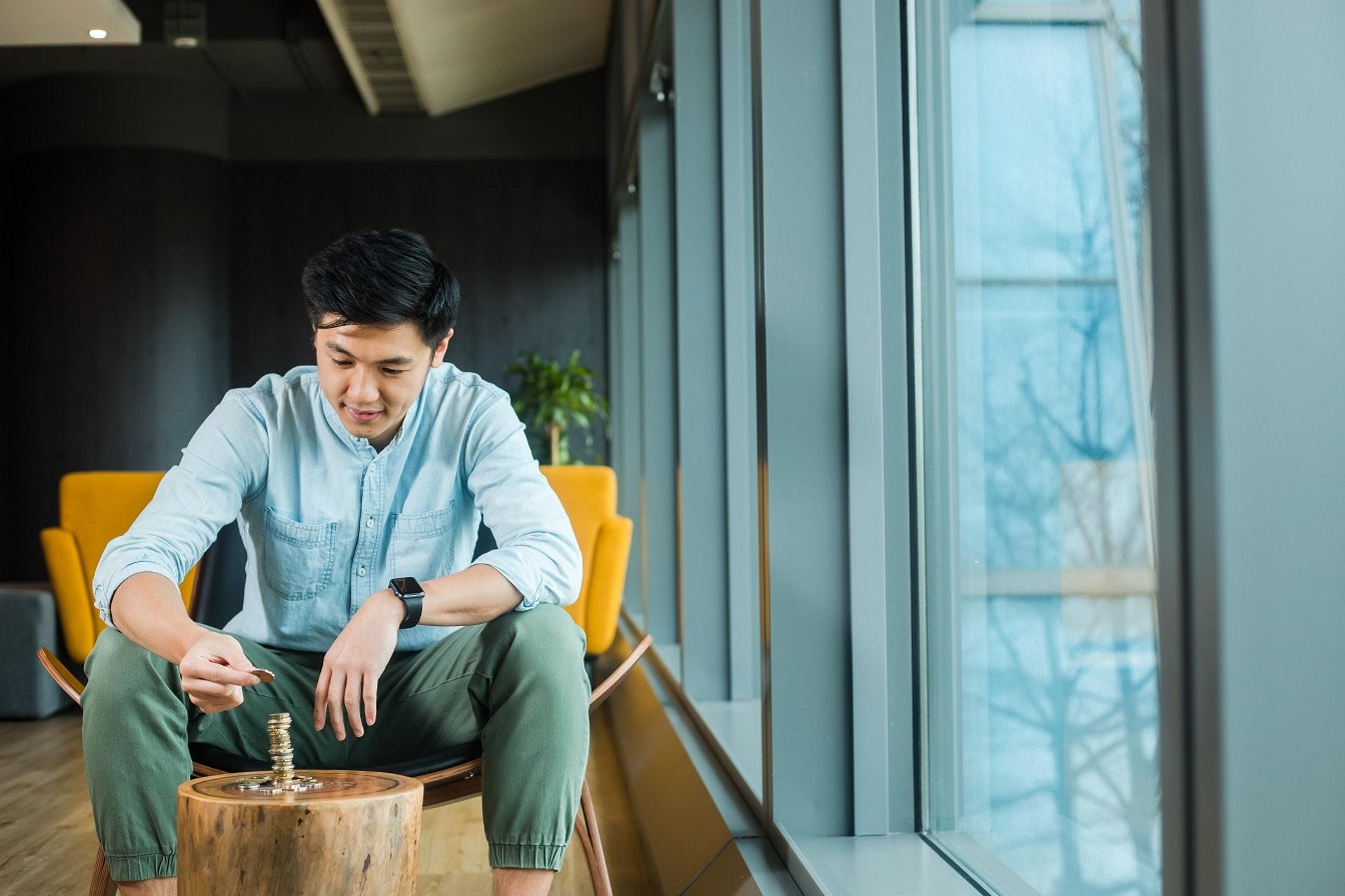 HEYCOINS聯合創辦人Adam Lau想透過HEYCOINS找回硬幣的價值。﹝吳煒豪攝﹞
