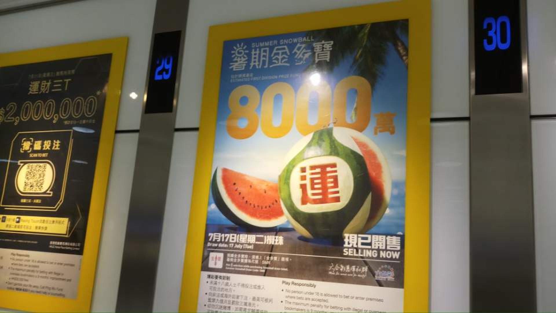 今期六合彩頭獎派彩最高可達8000萬元。(黃偉超攝)