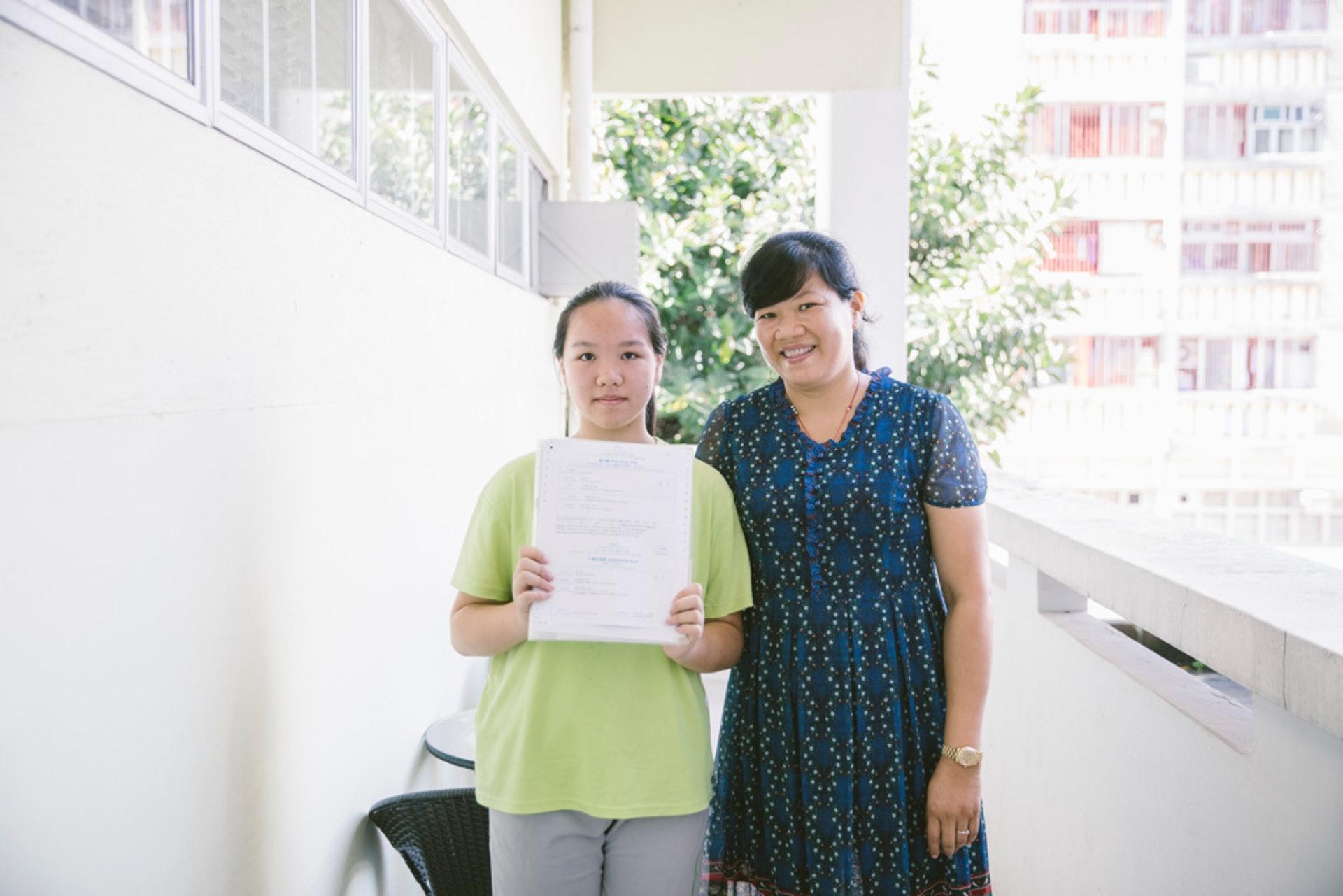 英莉獲派大埔英中迦密柏雨中學,感到相當滿意。