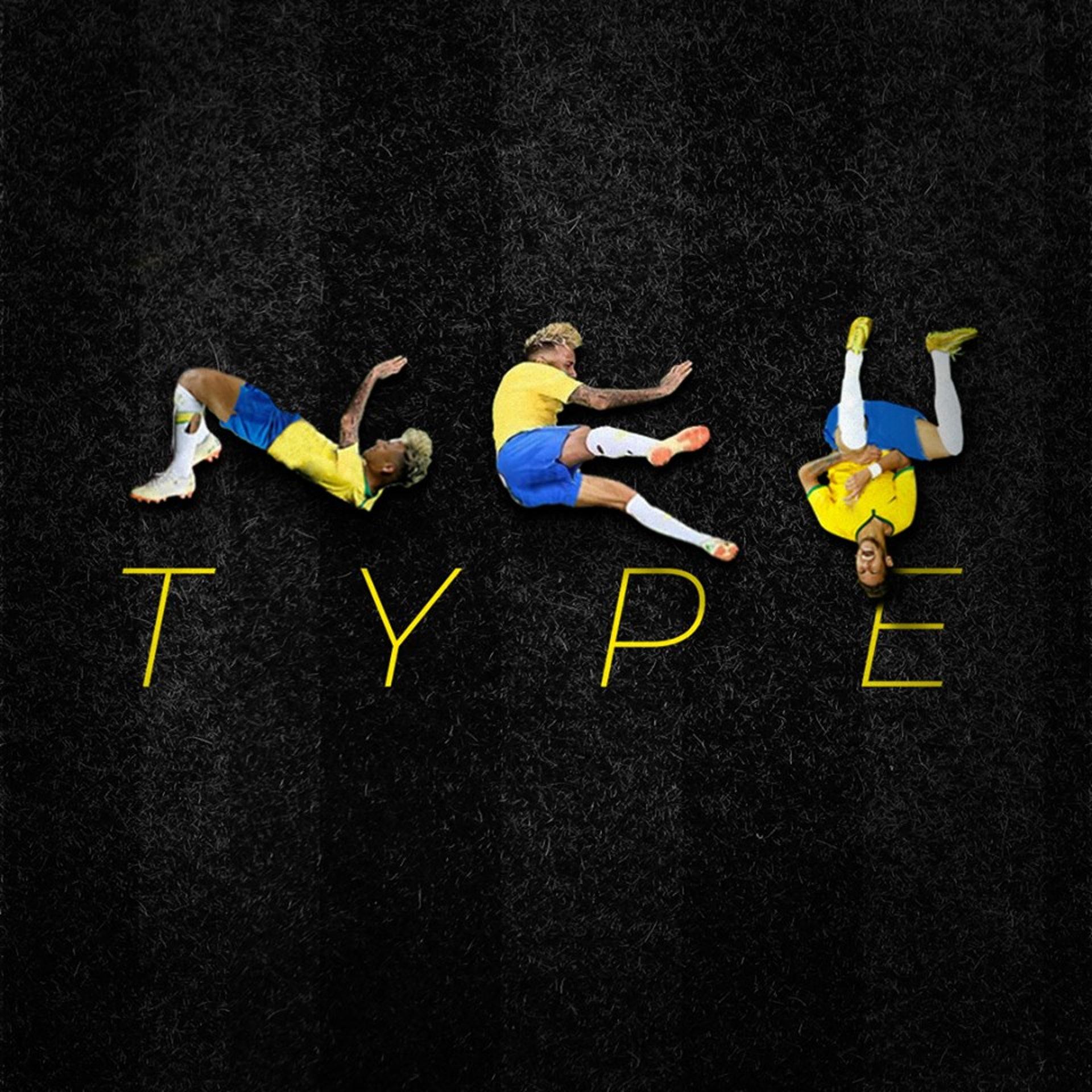巴西設計師發現,尼馬碌地動作可以拼成「A-Z」,因而設計出一套「尼馬字體」,圖為字體名稱「NEY TYPE」。(fb「Luciano Jacob」圖片)