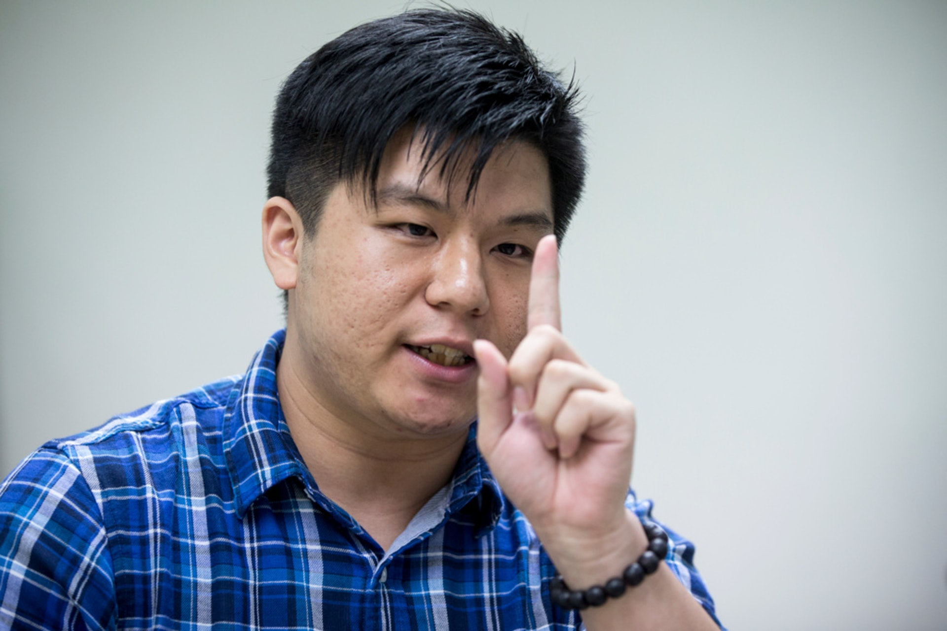 盧藝賢認為梁耀忠仍有一腔熱血,對他2020年連任充滿信心。(羅君攝)
