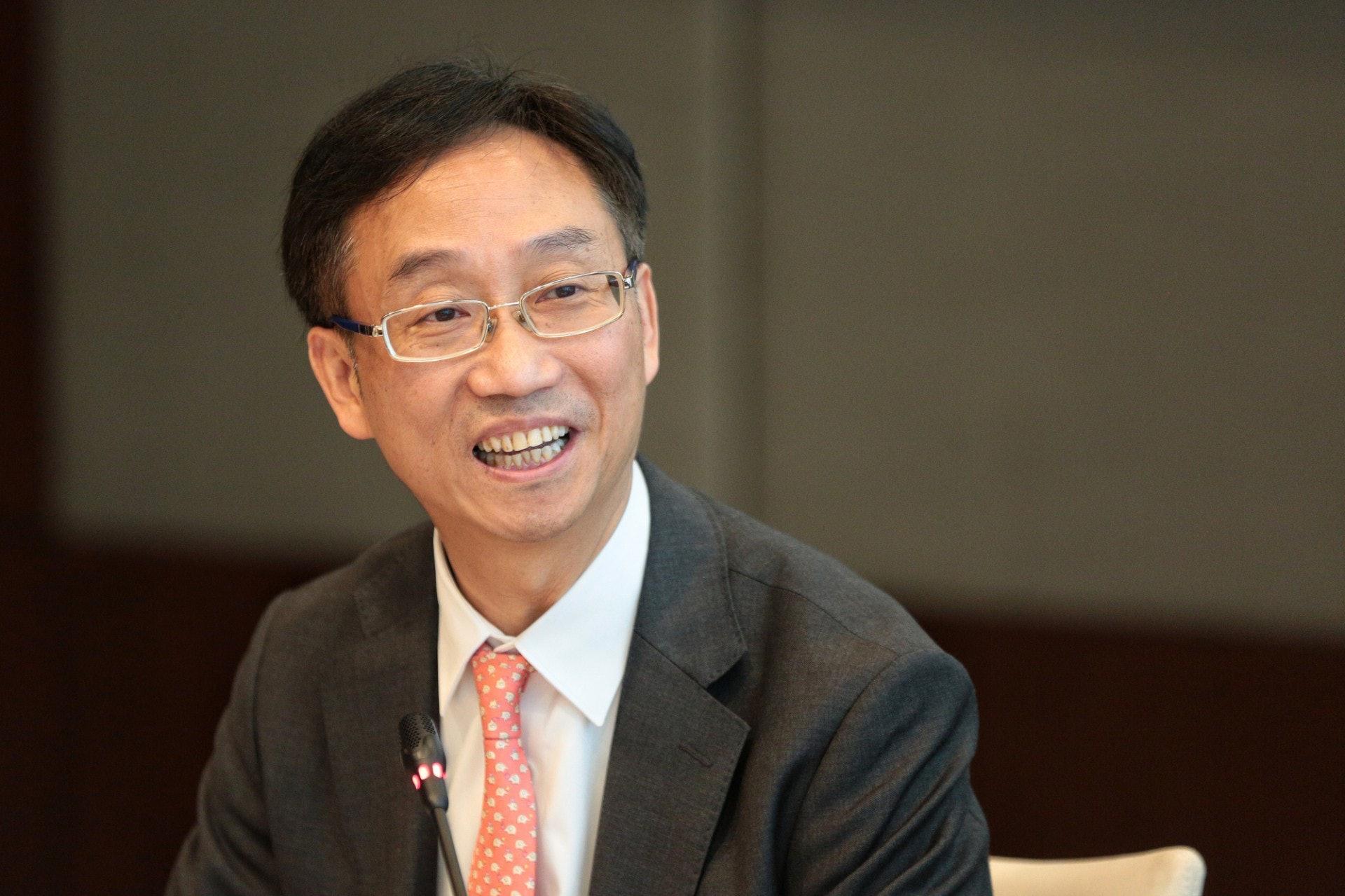 年金公司總裁劉應彬指日後公共年金未必再需要「先登記,後認購」,或會由年金公司統一處理。(羅君豪攝)