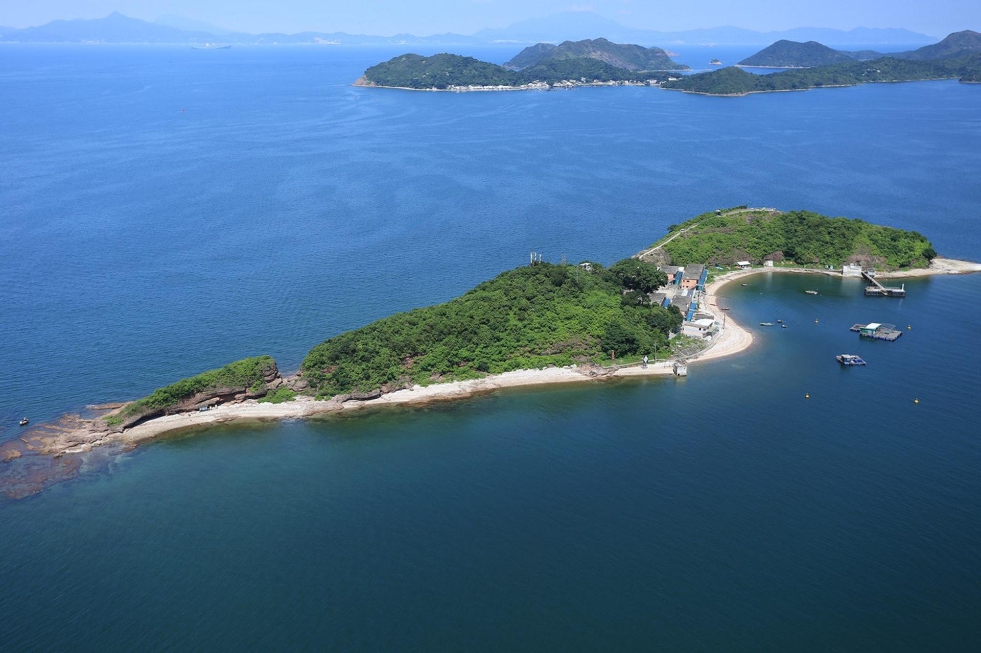 鴨洲因海島形狀像一隻鴨子伏在海上而得名。(資料圖片)
