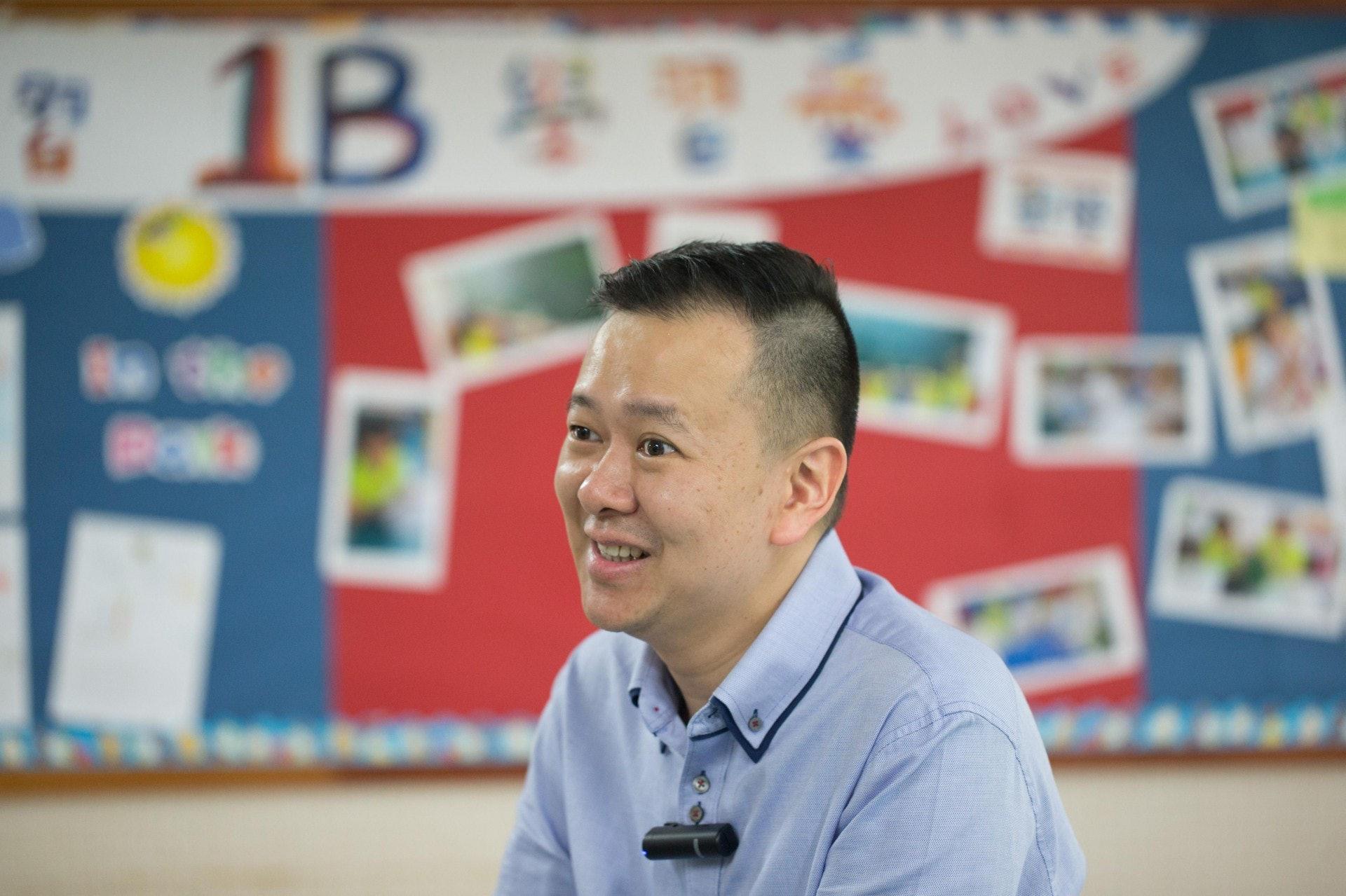 馮耀章:「世界不斷發展,教育不斷進步,如果問我會唔會咩都不變,係無可能。」(梁鵬威攝)