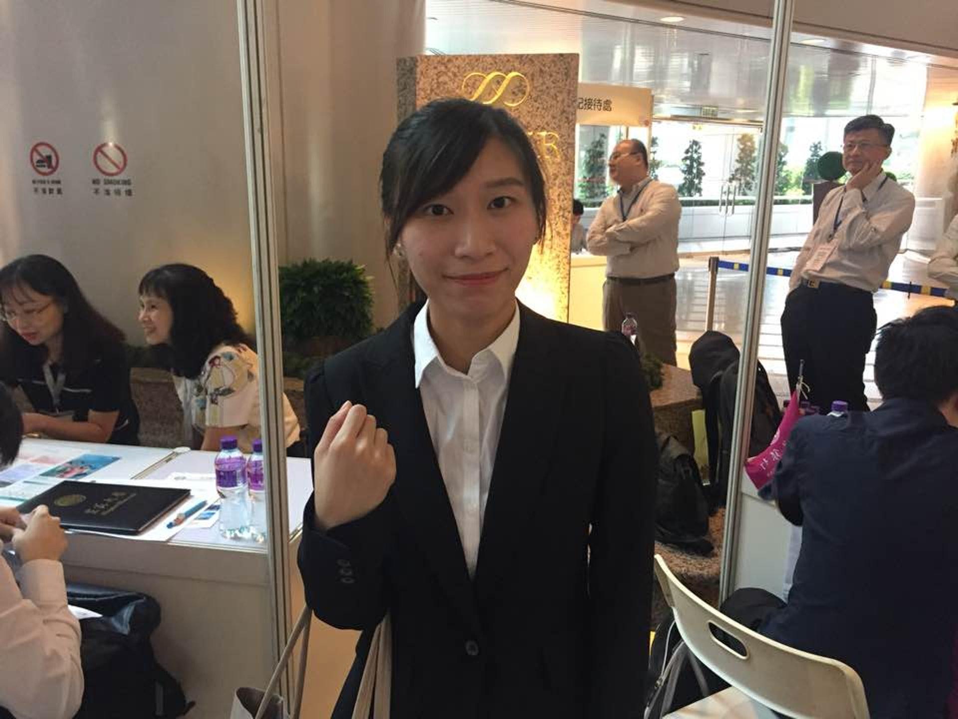 陳小姐認為香港壓力大,希望移居台灣。(張嘉敏攝)