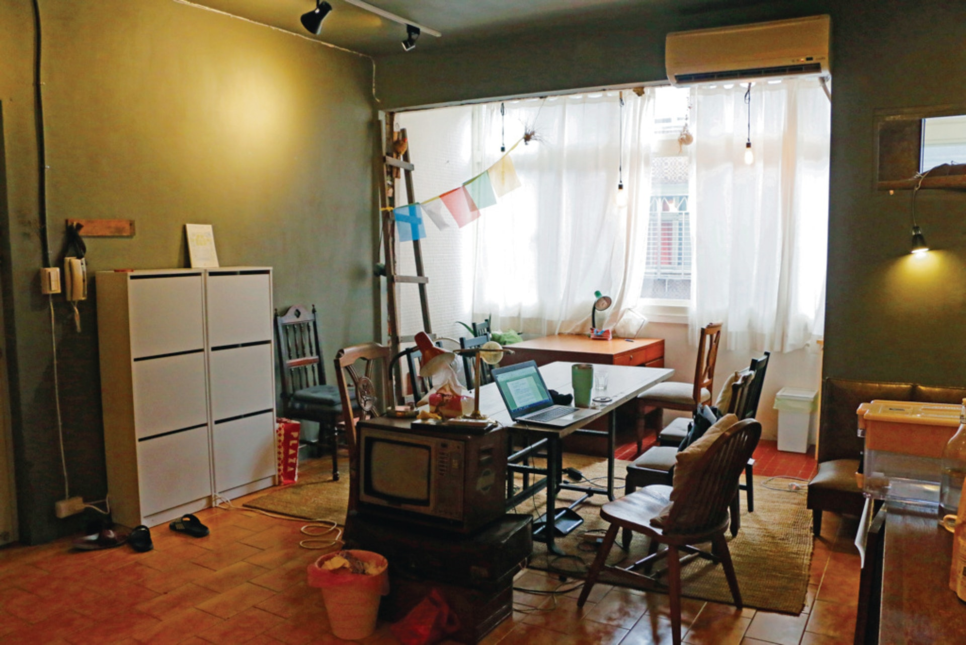 玖樓團隊將老房子翻新,提供青年居住空間,並在空間中開啟共居實驗。(杜晉軒攝)