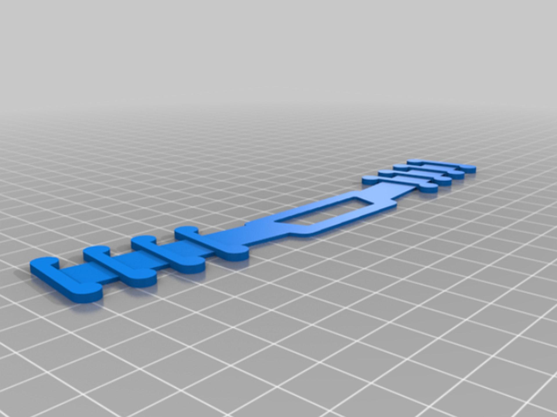 Quinn大方分享設計圖,呼籲有3D打印機的人一同製作膠條供有需要醫護使用。(thingiverse網頁圖片)
