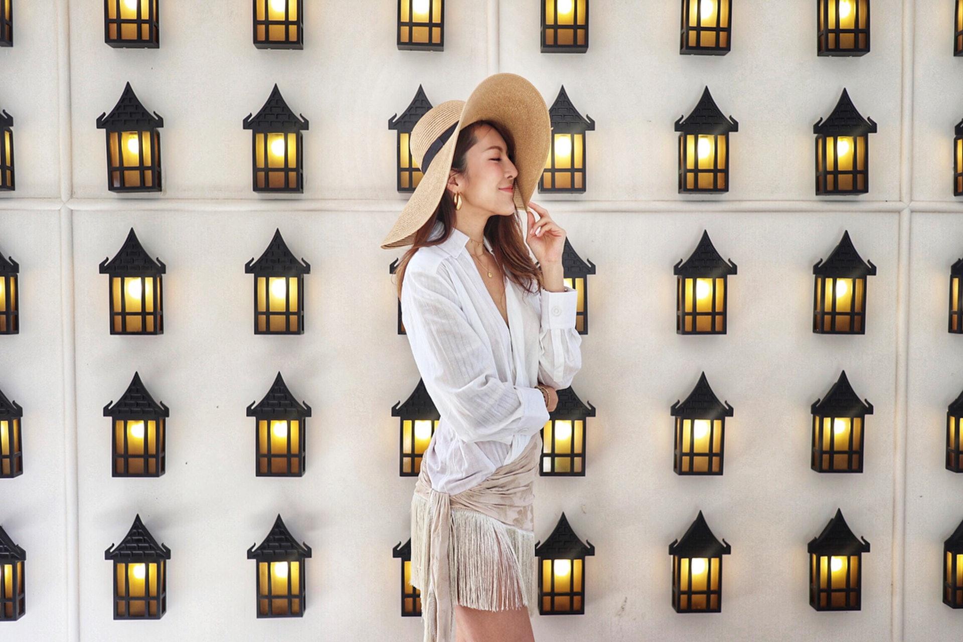張曦雯(Kelly)鍾情於各 類型裙擺設計的連身裙。(kelllycheung@Instagram)
