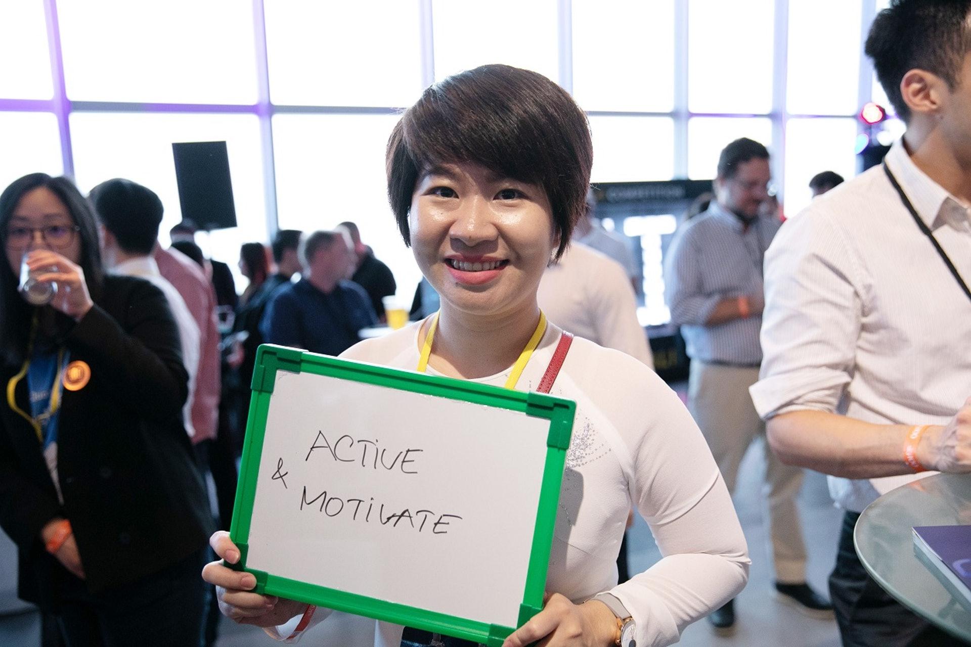 【Active & Motivate】來自越南,於新加坡創辦Get Done公司的Pham Lan Khanh,表示很高興自己能以東南亞創企的身份參加在香港舉辦的大型創業活動,又指在會場中結識了一些投資者及來自世界各地的創企單位,對香港能凝聚這麼熱鬧的創業氣氛感興奮。