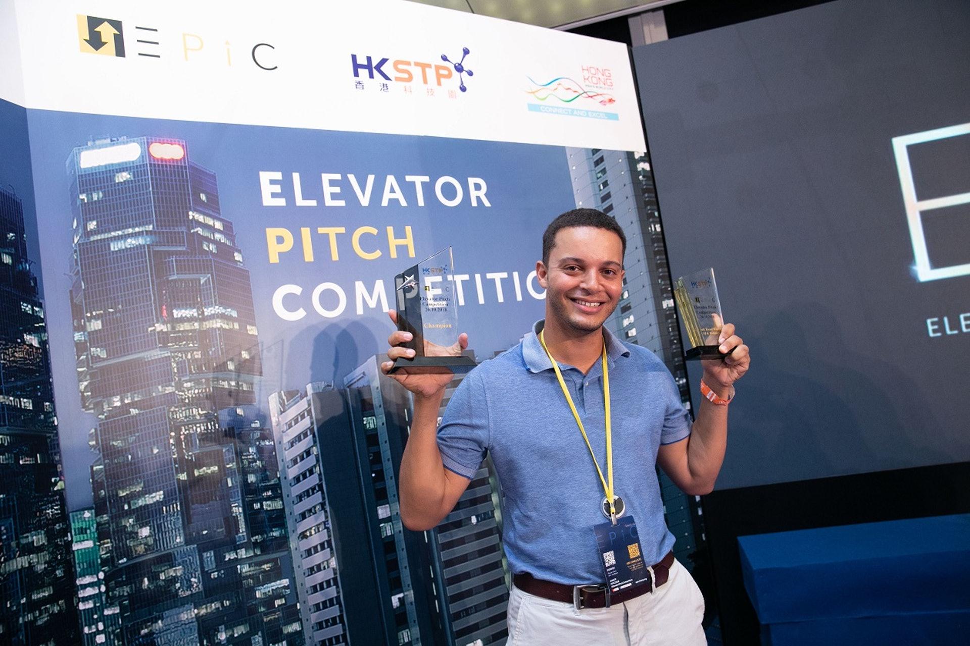 DASH Systems的創辦人Joel Ifill指自己是首度參與電梯募投比賽,能獲獎實在是喜出望外。