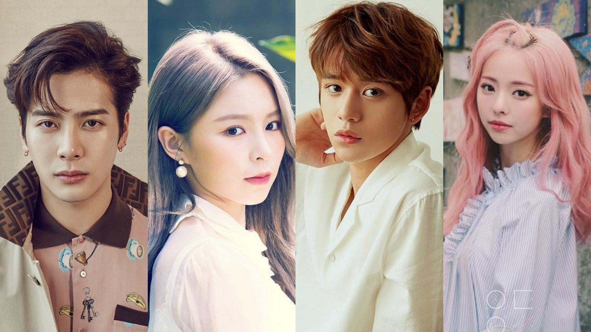 來自香港的GOT7的王嘉爾、CLC的莊錠欣Elkie、NCT的Lucas黃旭熙和LOONA本月少女的黃珈熙Vivi成功在韓國出道。(網上圖片)