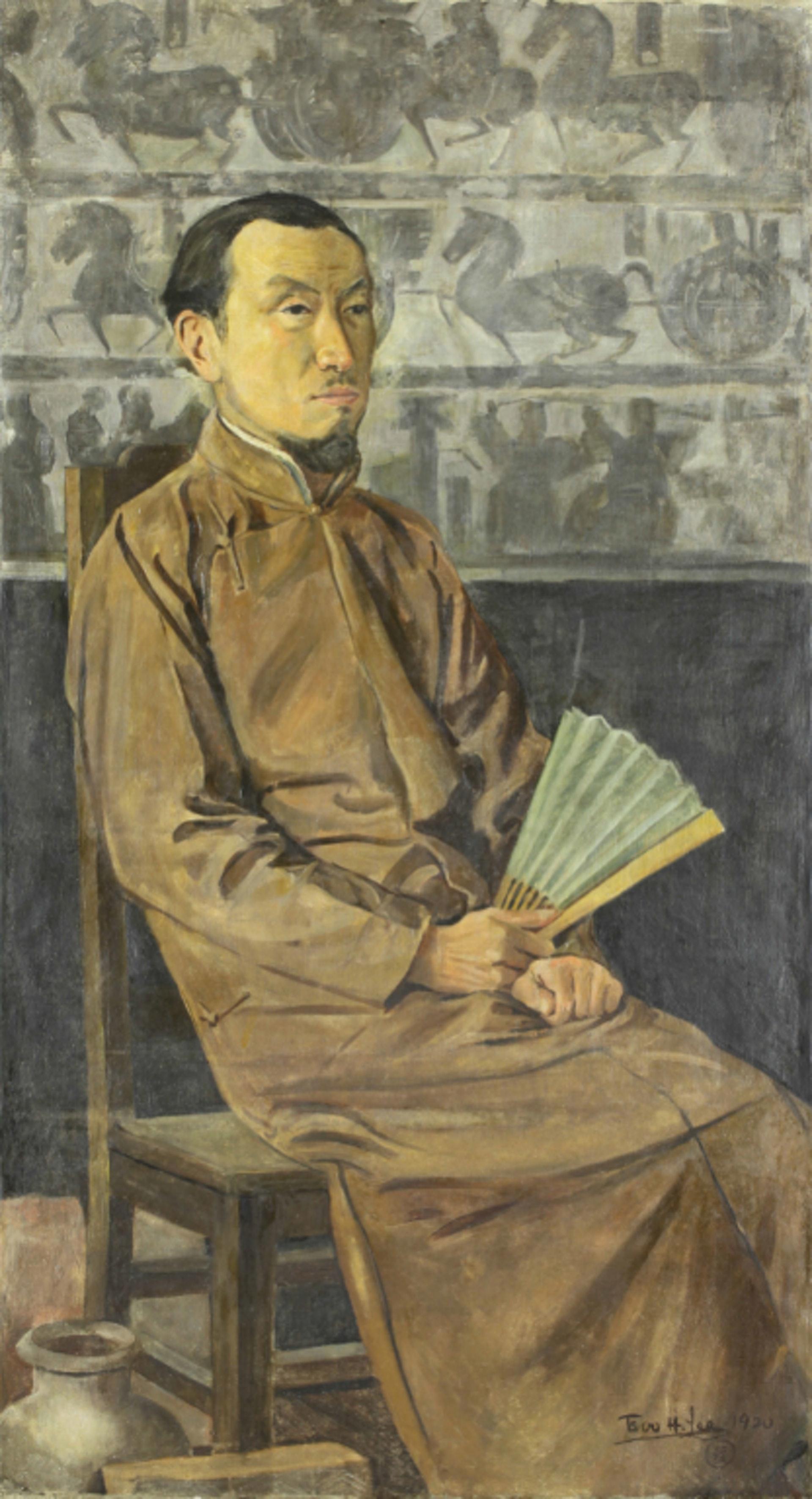 李毅士《陳師曾像》(1920)