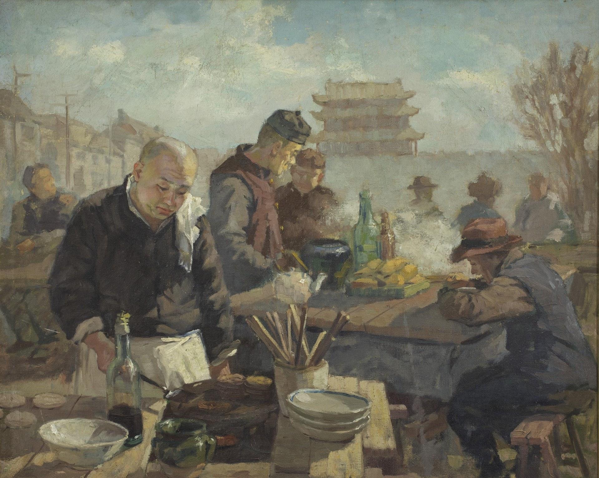 李宗津《平民食堂》(1947,布面油彩)