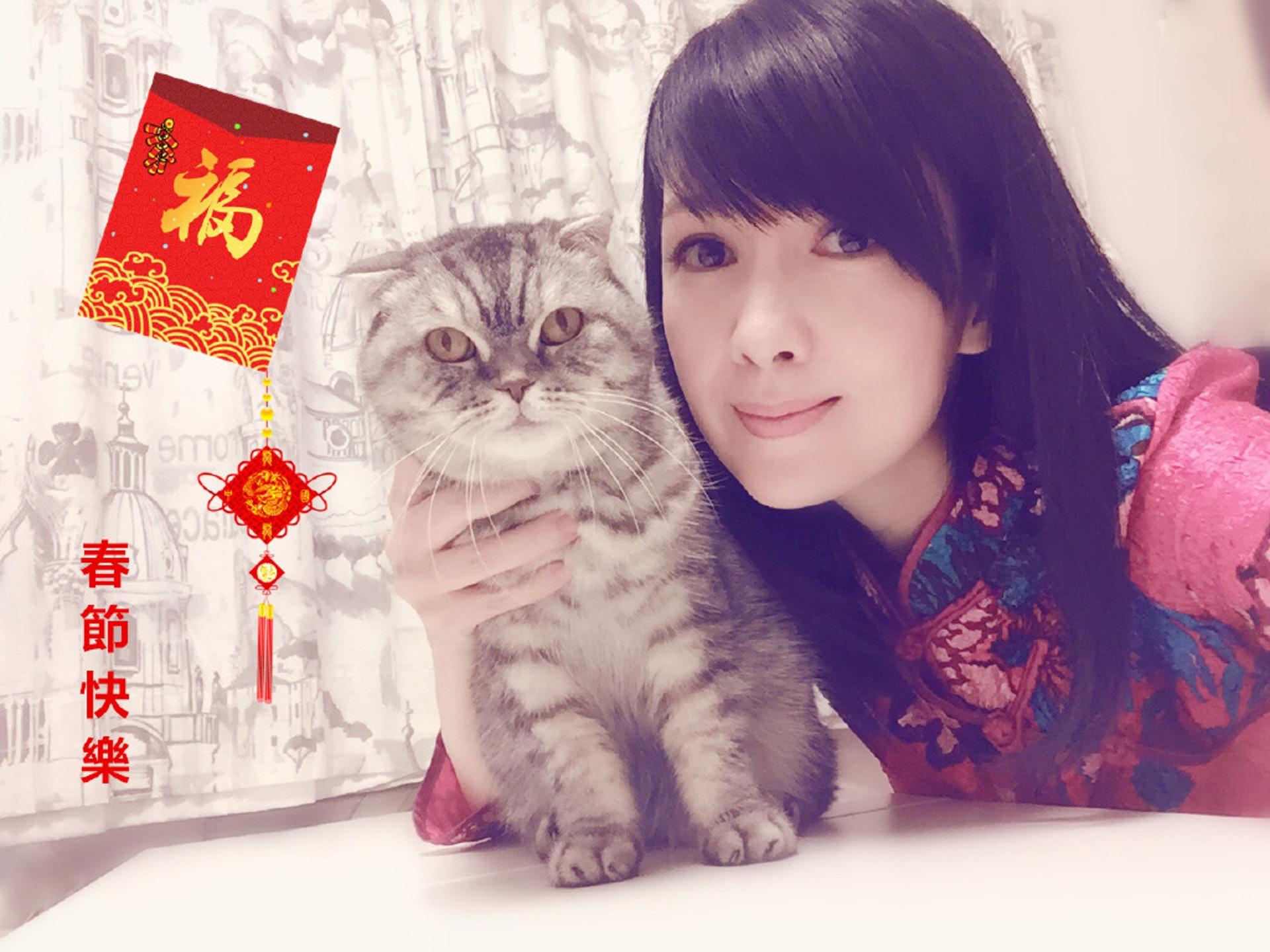 周慧敏不時在網上紀錄與愛貓相處的點滴!(微博照片)