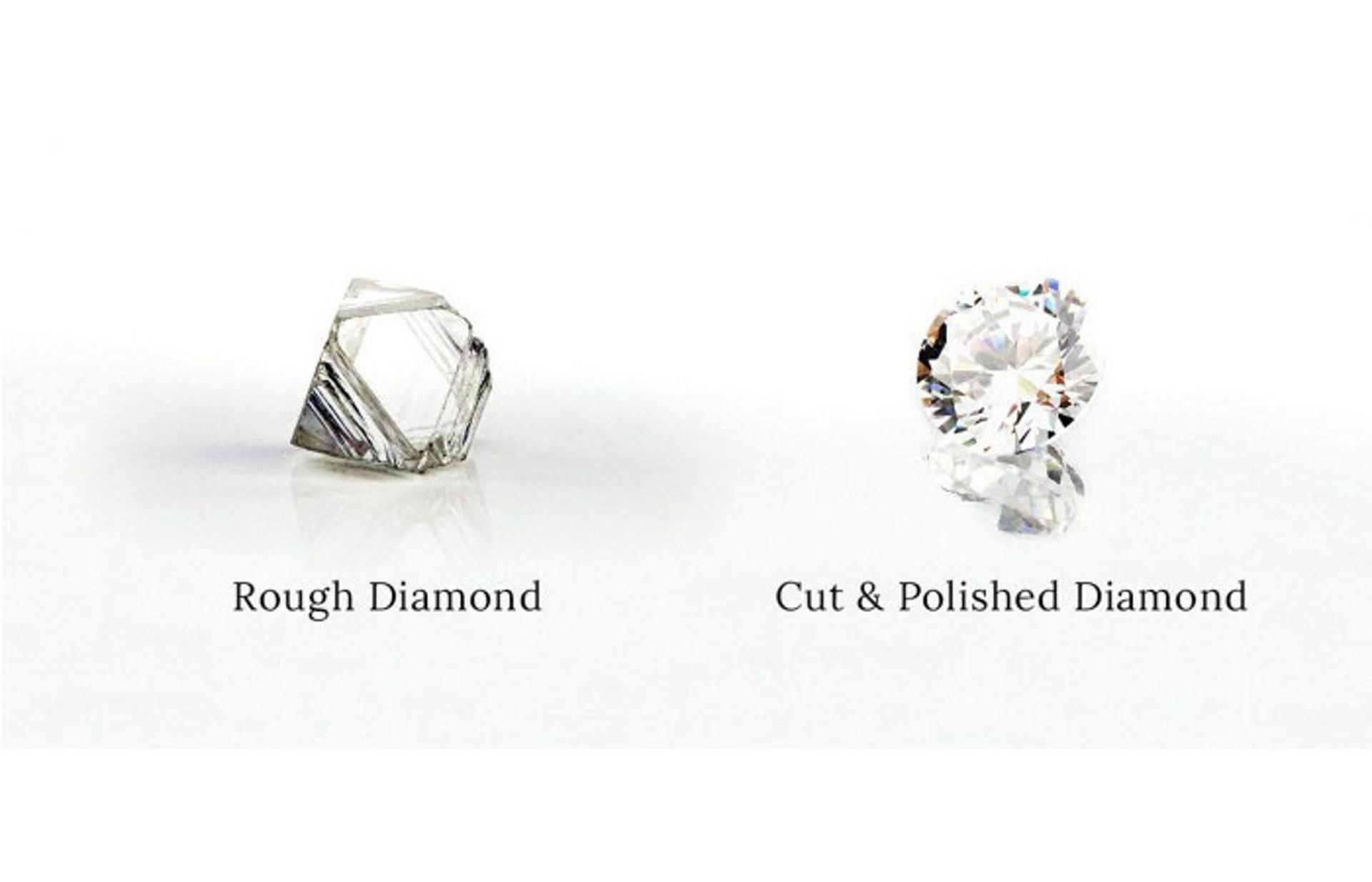 粗糙的鑽石和切割鑽石(世界高級品)