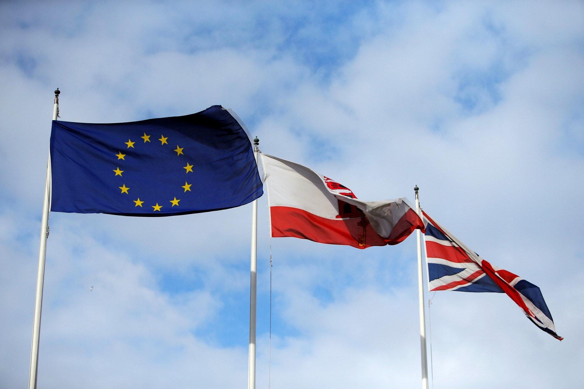 周日(25日),歐盟通過英國的脫歐協議草案,如若英國國會通過脫歐草案,英國將於2019年3月退出歐盟。(路透社)