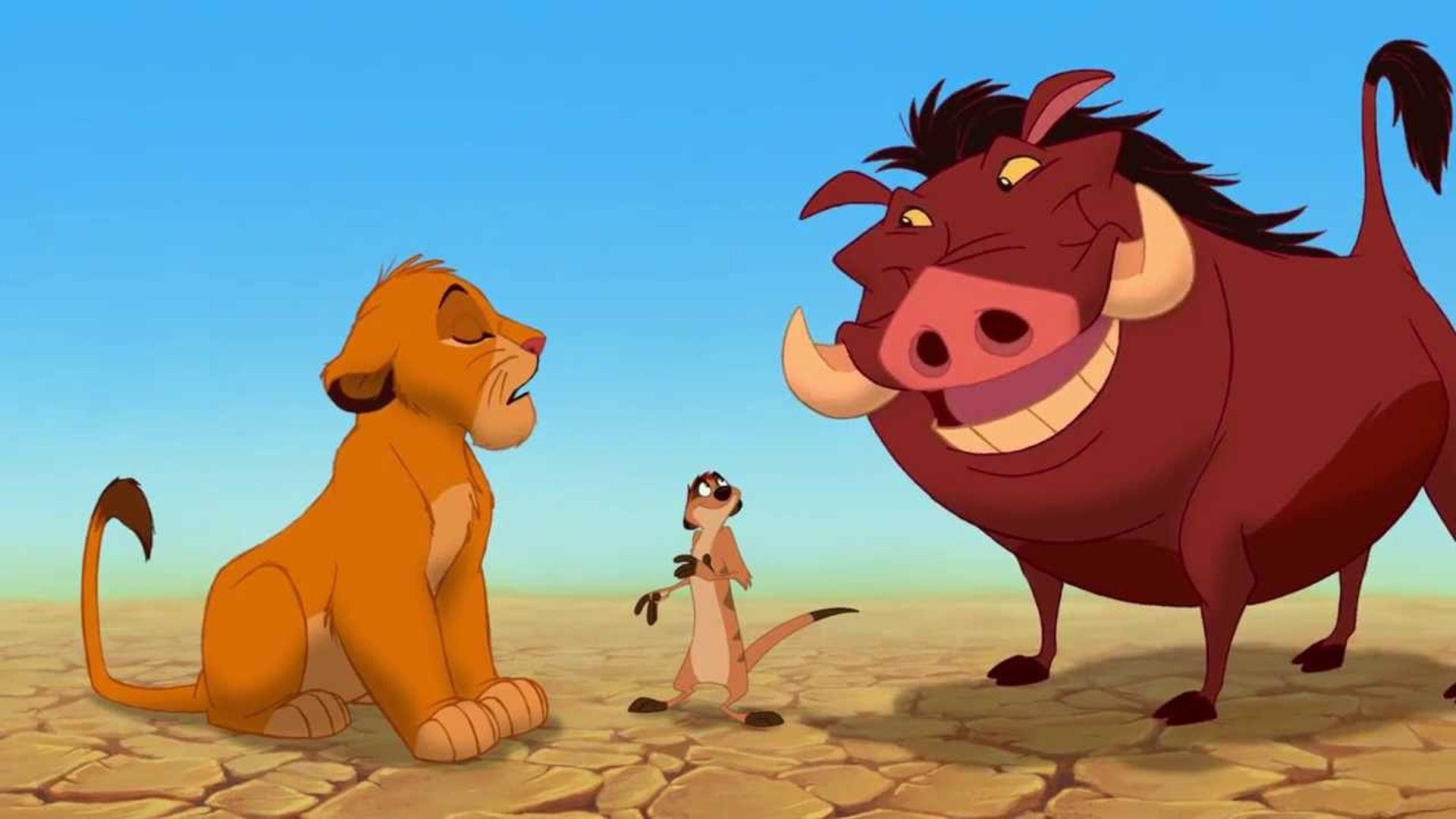 迪士尼早在 1994年《獅子王》推出第一集時,就已經將「Hakuna Matata」一詞註冊為商標。(電影截圖)