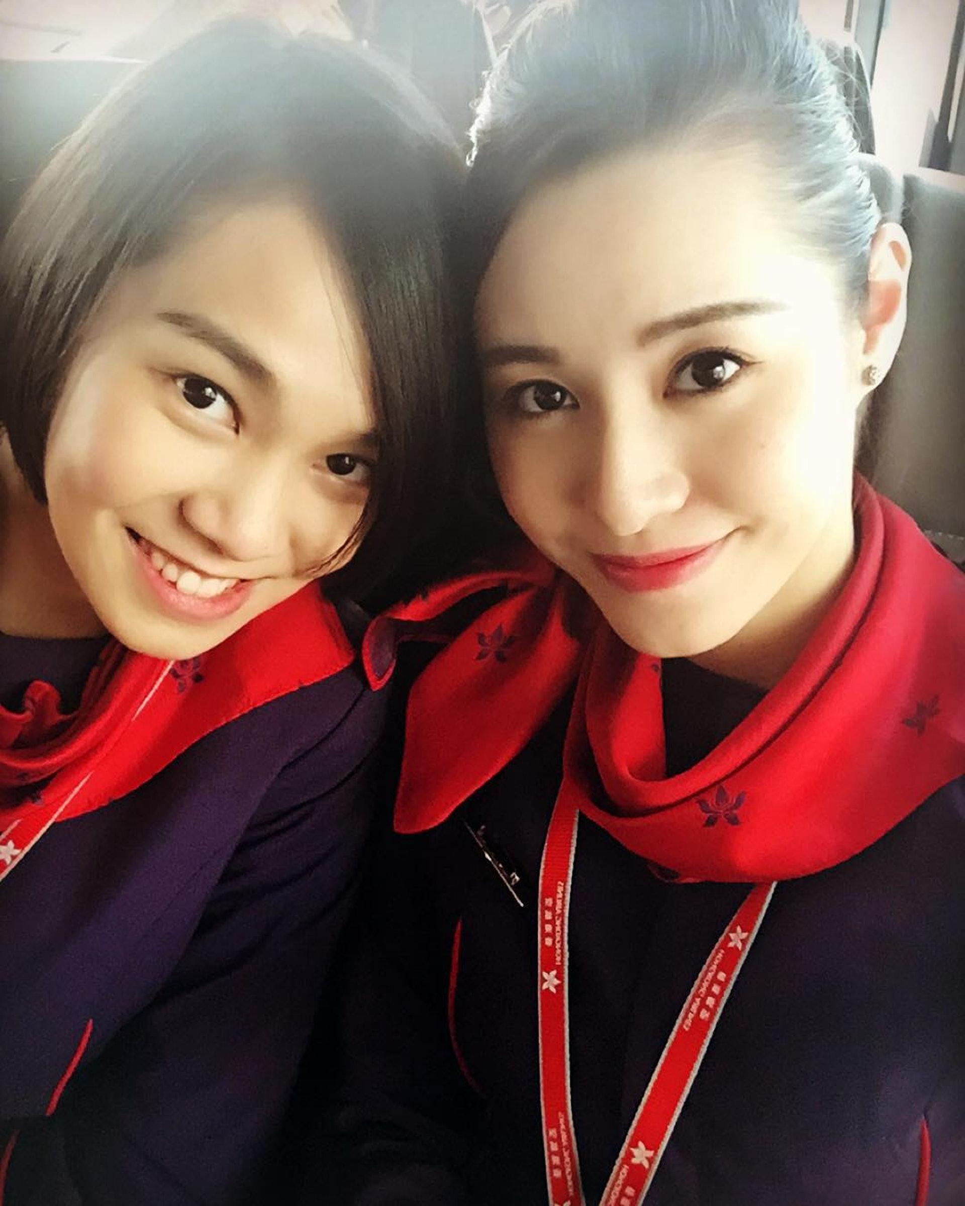 翻看Eunice嘅IG,仲有好多佢以前做空姐時期嘅靚相。(IG圖片)