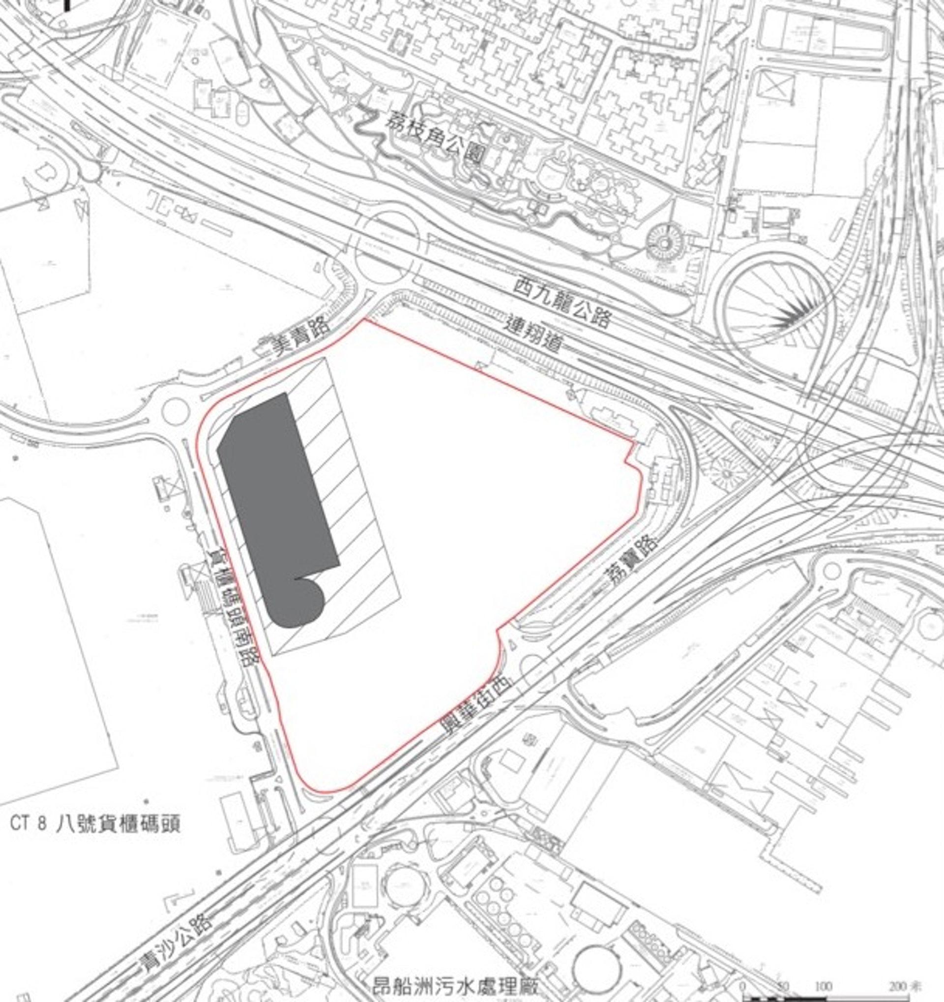 葵涌貨櫃儲存及貨物處理多層綜合大樓建議設計方案。(區議會文件)