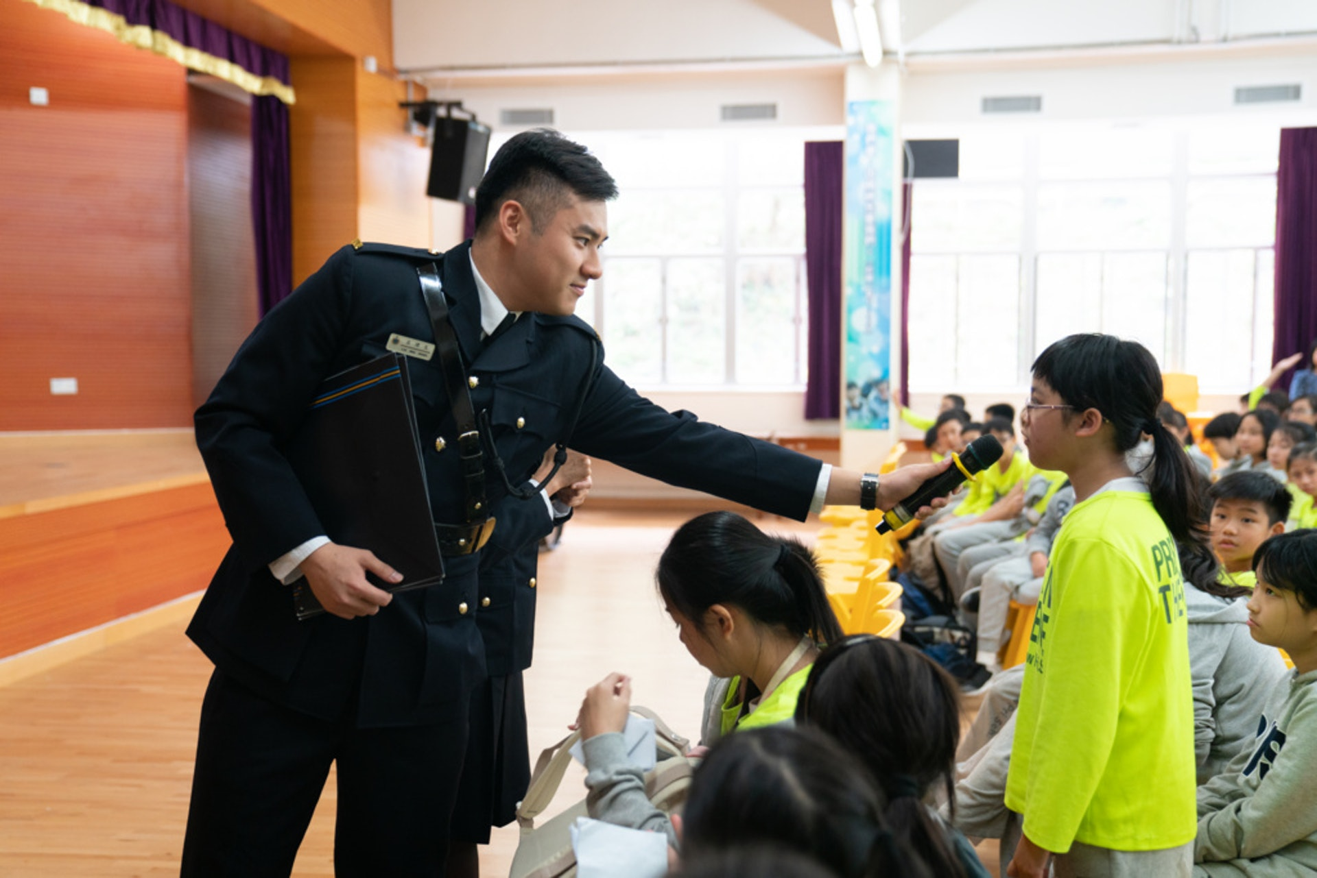 懲教署在小學舉辦「信有明天」活動的情況。(吳鍾坤攝)