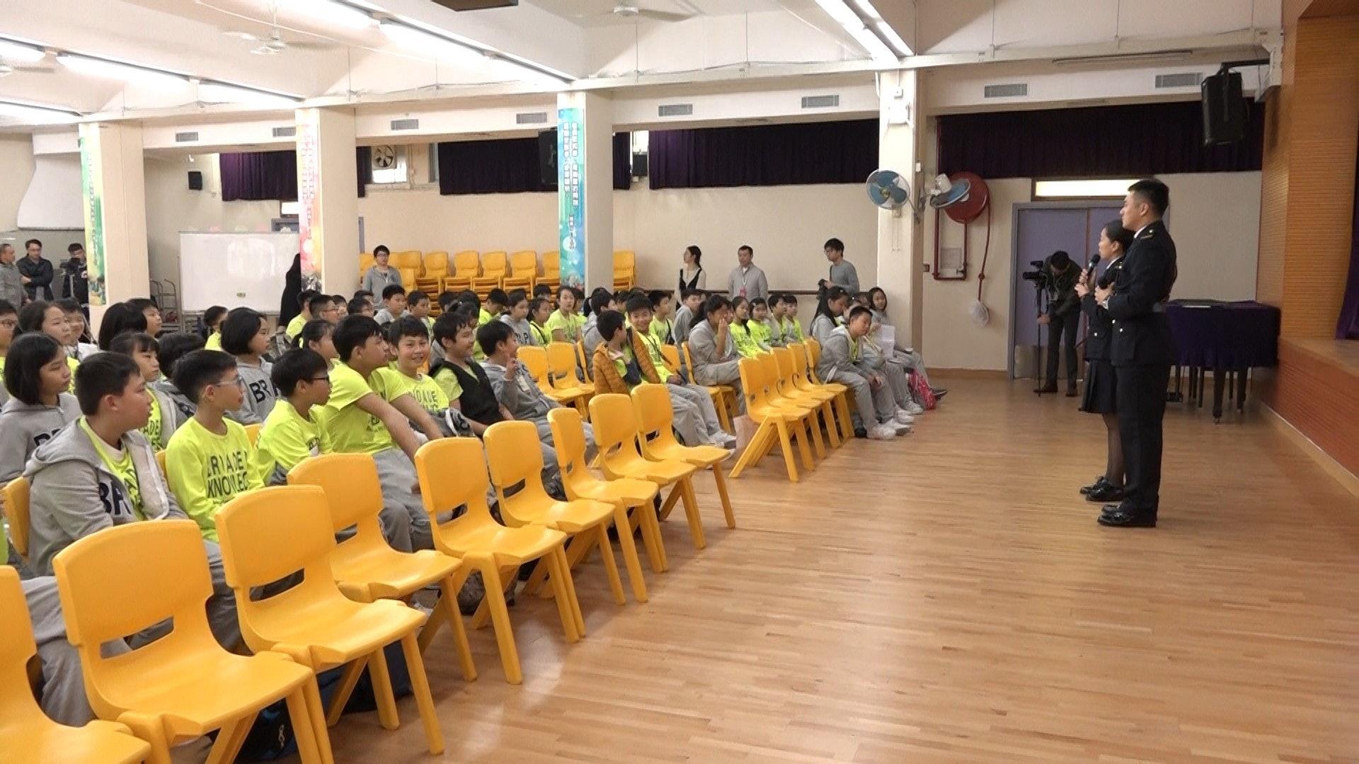 浸信會天虹小學聯同懲教署於1月8日舉辦「信有明天」活動。(譚威權攝)