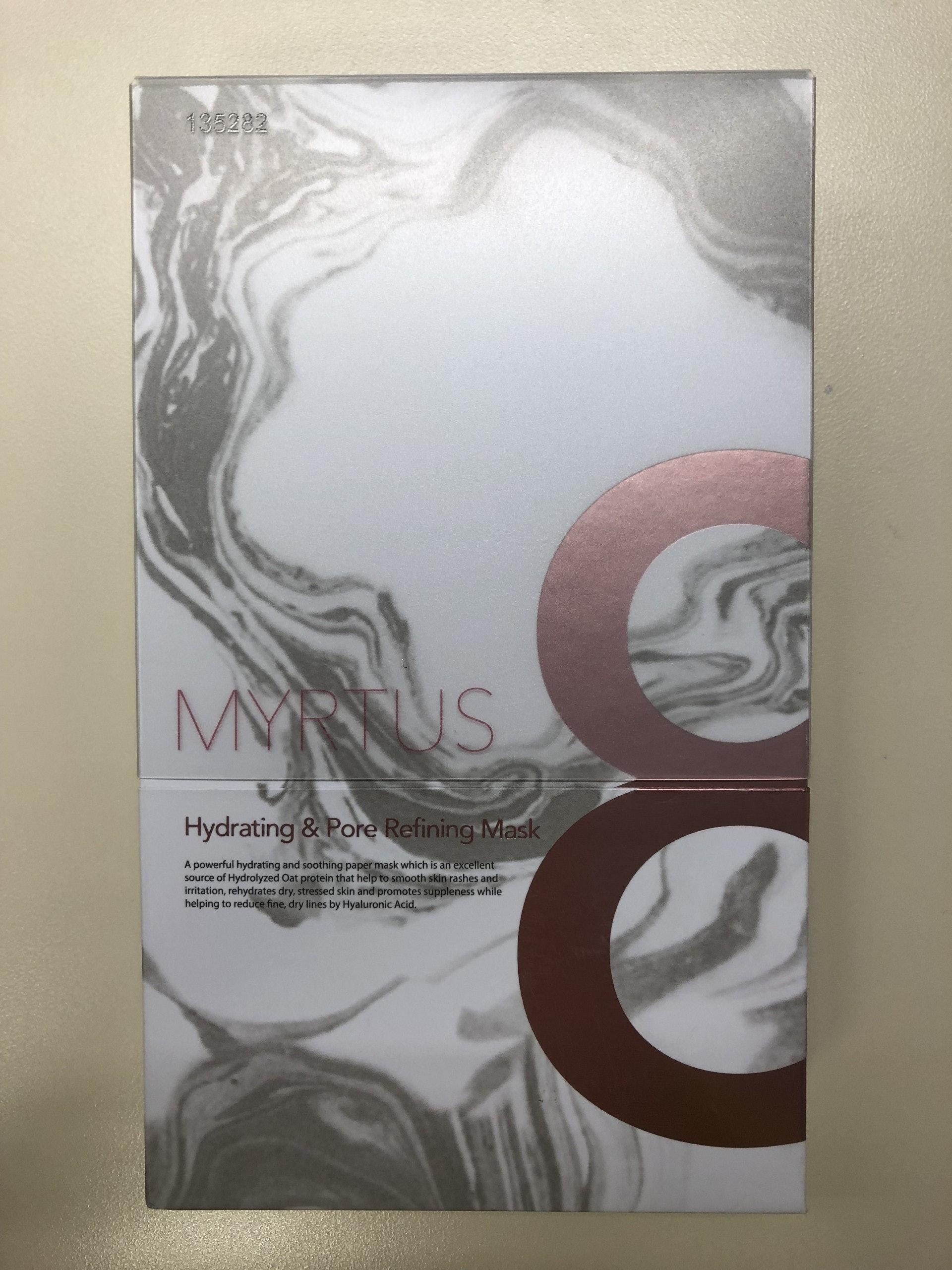 衞生署呼籲市民不要購買或使用一款名為「MYRTUS 8 MASK」的面膜,因為有關產品被發現含有未標示及受管制的物質。(衞生署圖片)