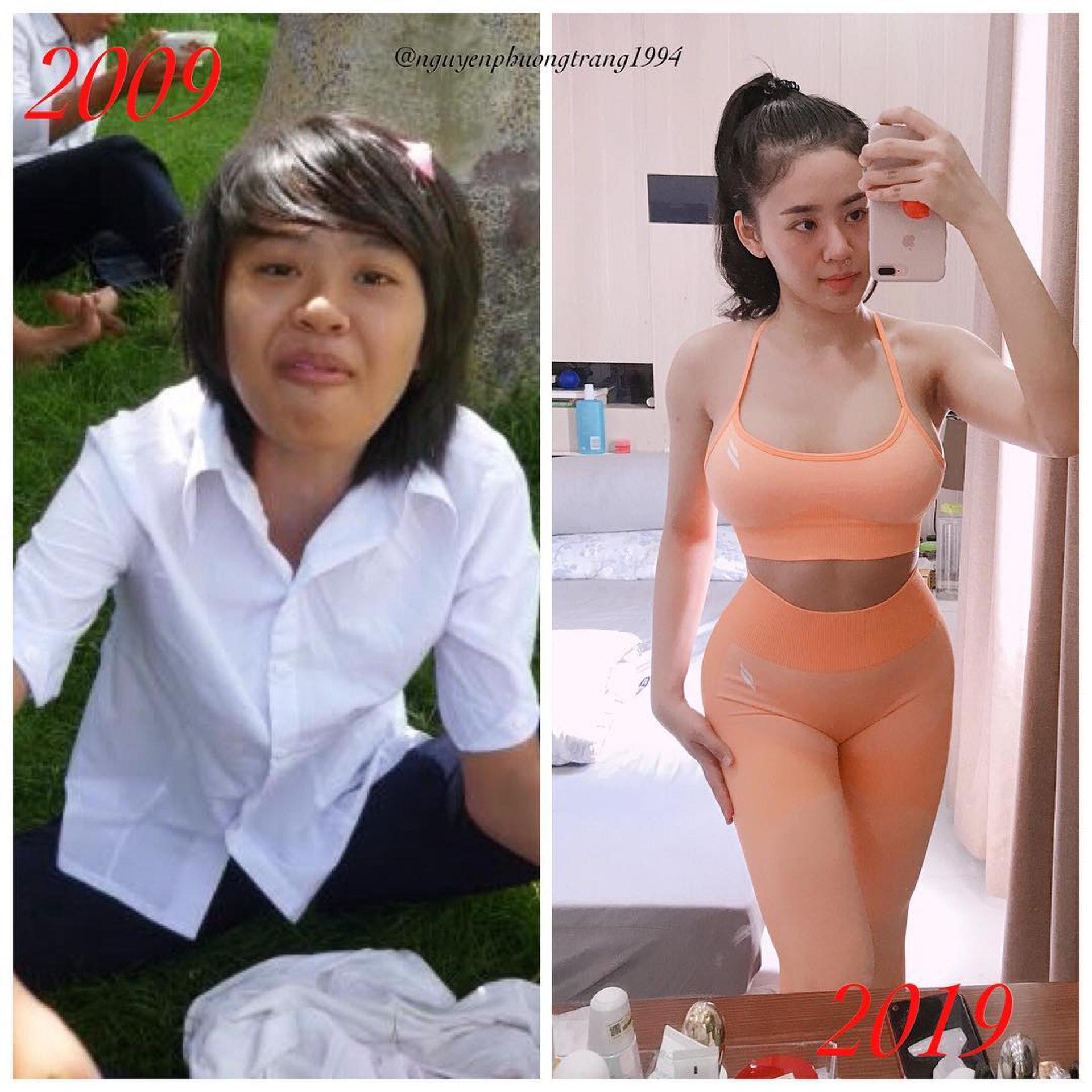 十年前後對比阮芳莊果然是「醜小鴨變天鵝」的成功例子。(網上圖片)