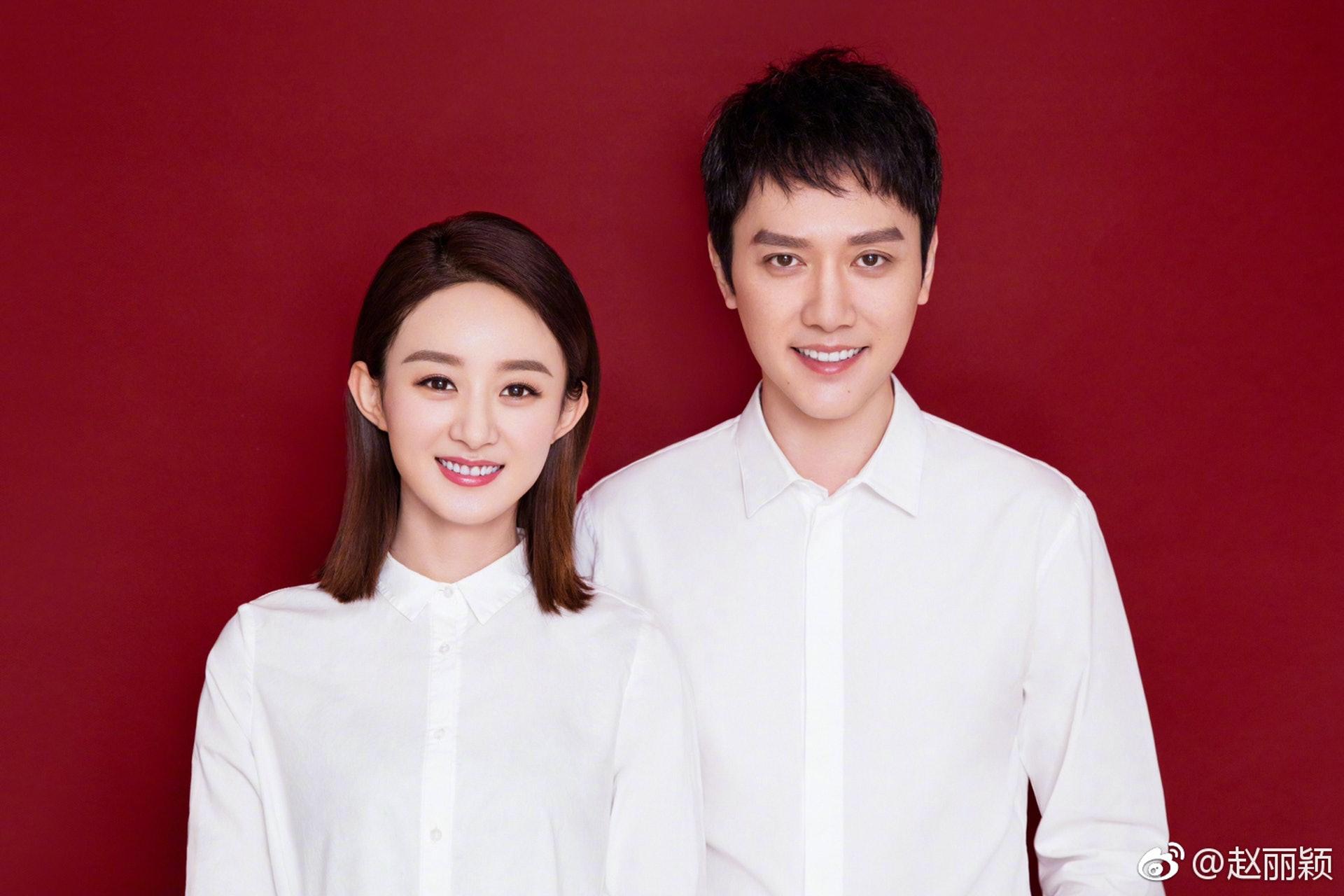 內地女星趙麗穎和男星馮紹峰去年10月毫無預警地在微博突然宣佈已領證結婚,由螢幕情侶昇華做真夫妻。(趙麗穎微博)