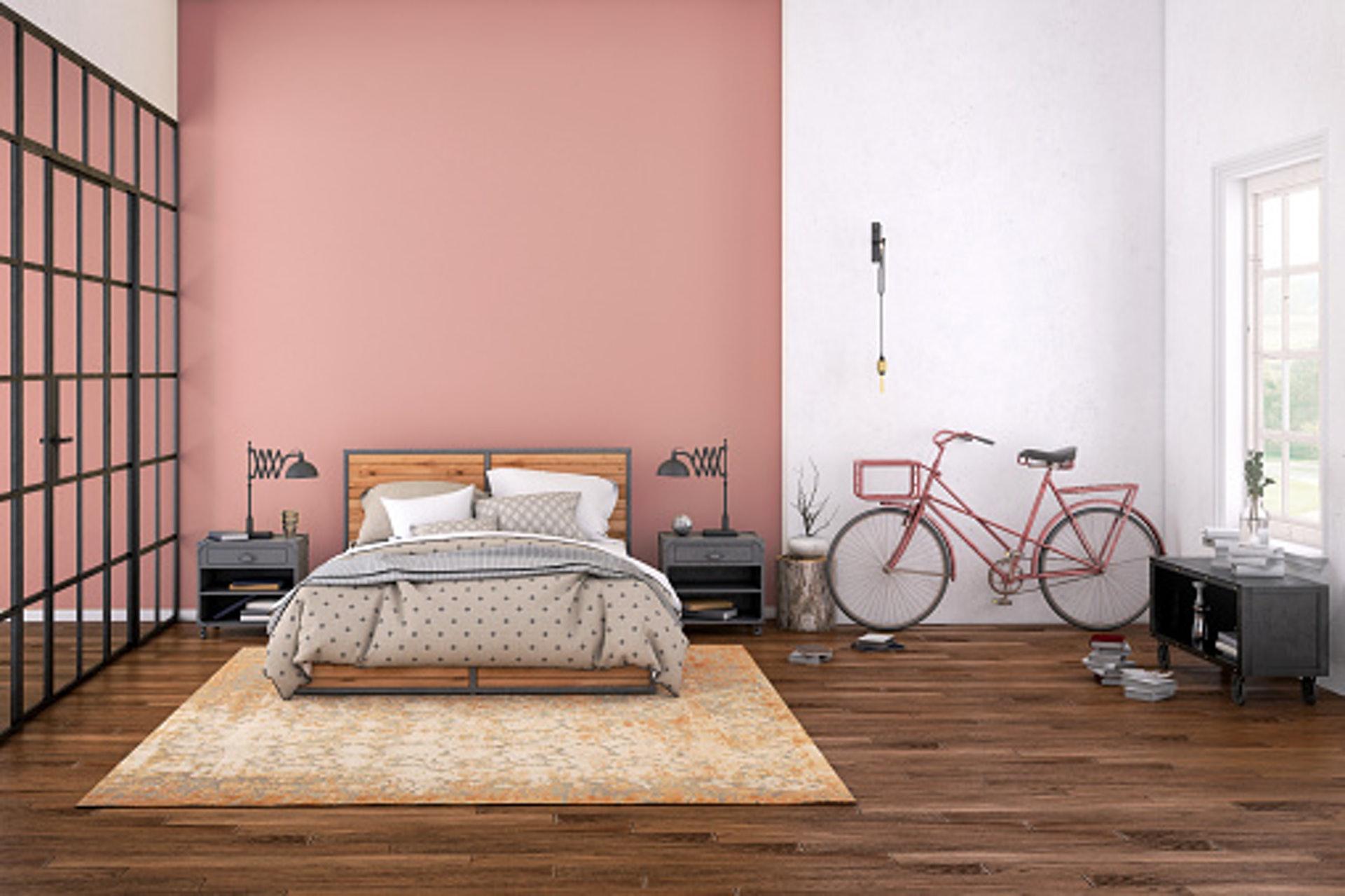 淡粉色的加入能使房間看起來更加活潑,簡單又不過於雜亂,還能散發出專屬女人的知性魅力。/© GettyImages (視覺中國)