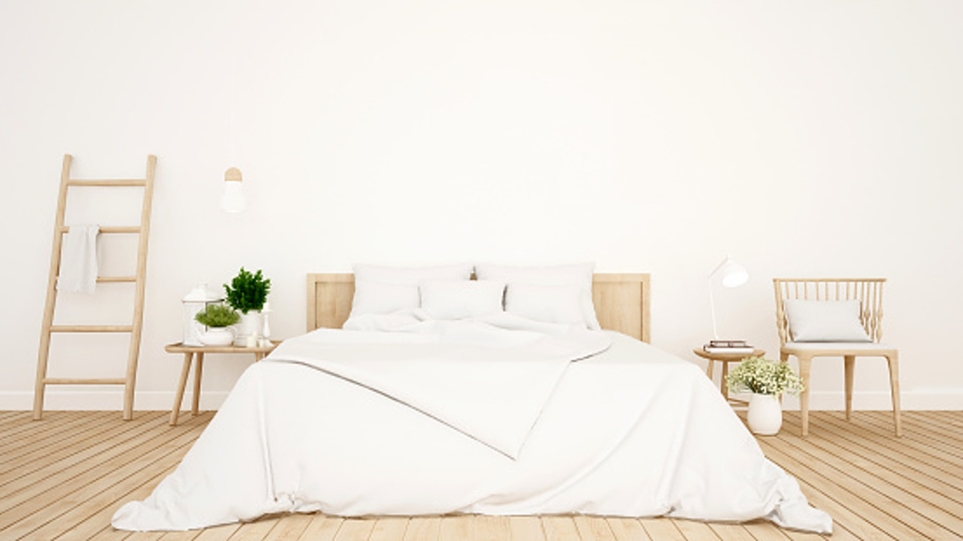 透過窗外的自然光,照射在白色家具上,使整個空間舒適又明亮。/© GettyImages (視覺中國)