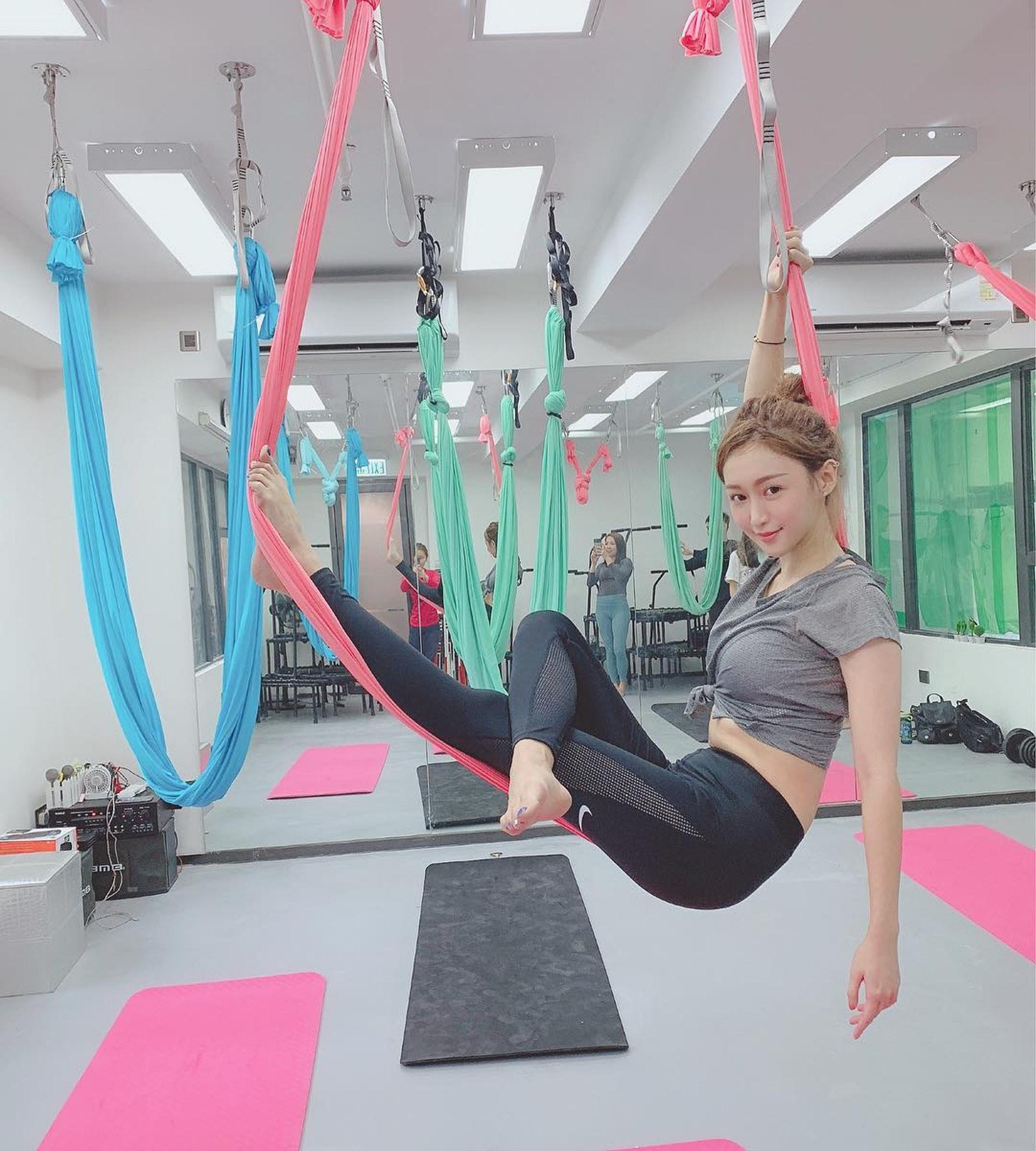 近年多了不少香港女仕去學空中瑜珈。(受訪者提供)