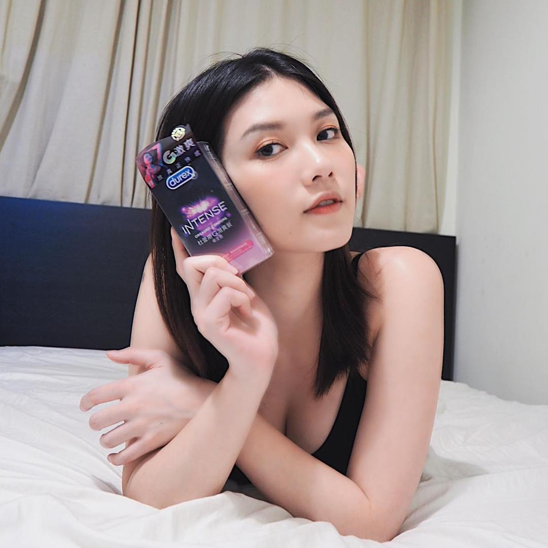 沙律曾任避孕套品牌代言人。(Instagram)
