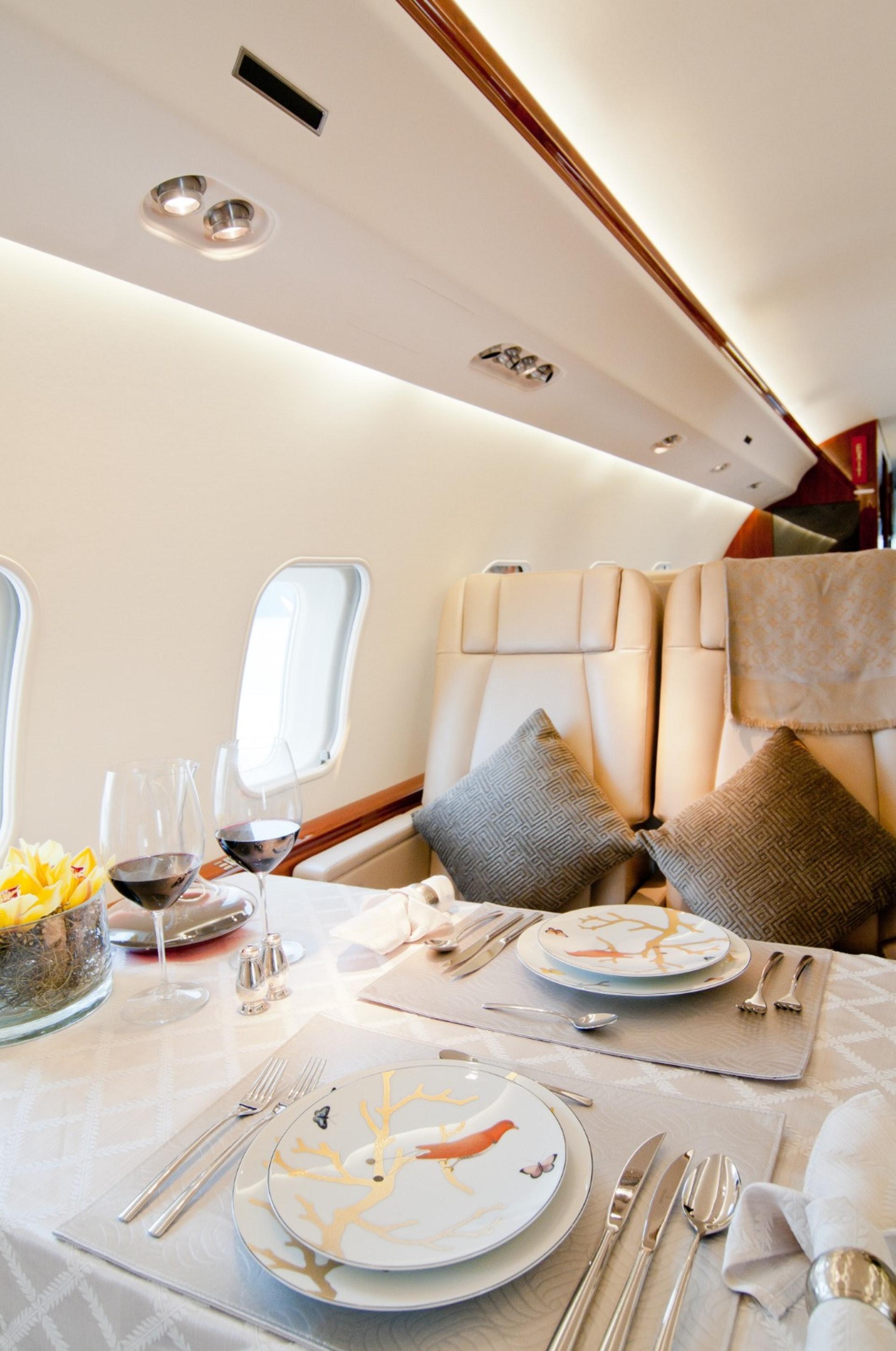 各種私人飛機的機艙都令人驚喜及大開眼界。﹙GettyImages/VCG﹚