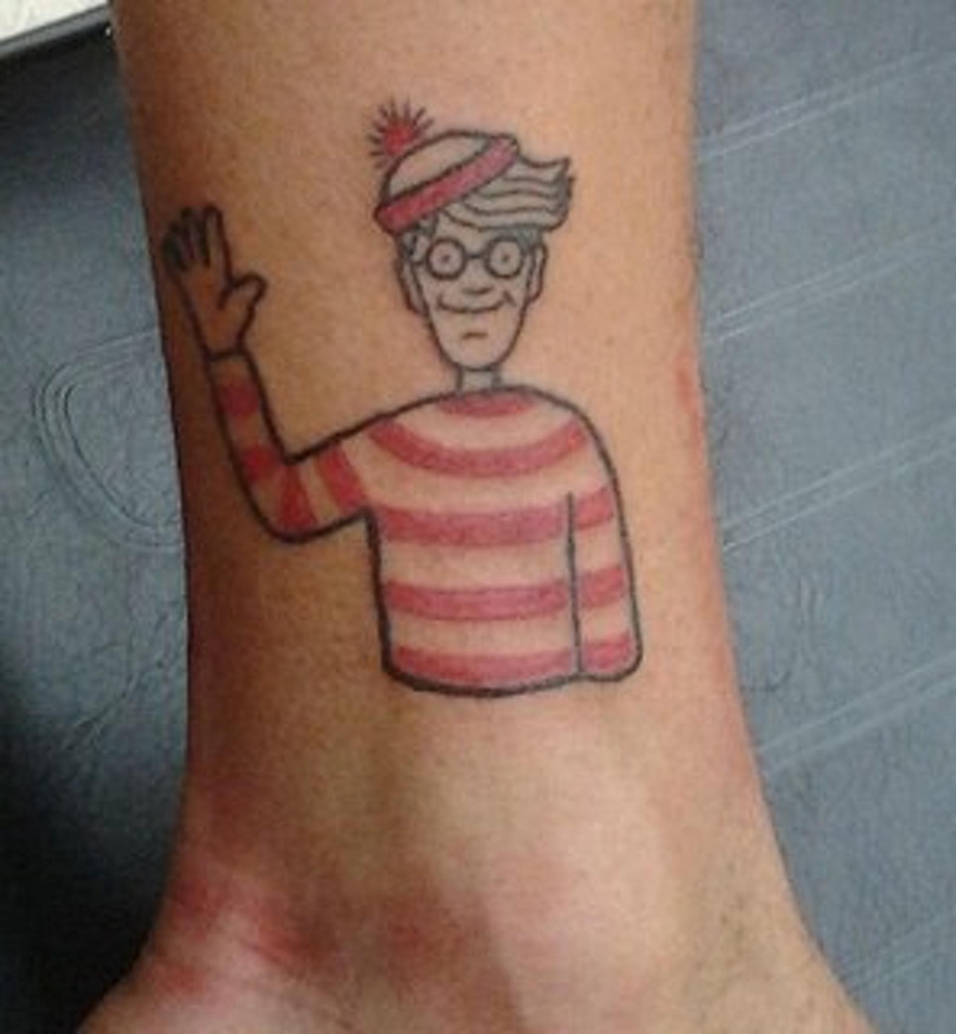 威利粉丝甚至将主角纹在身上。 (网上图片)