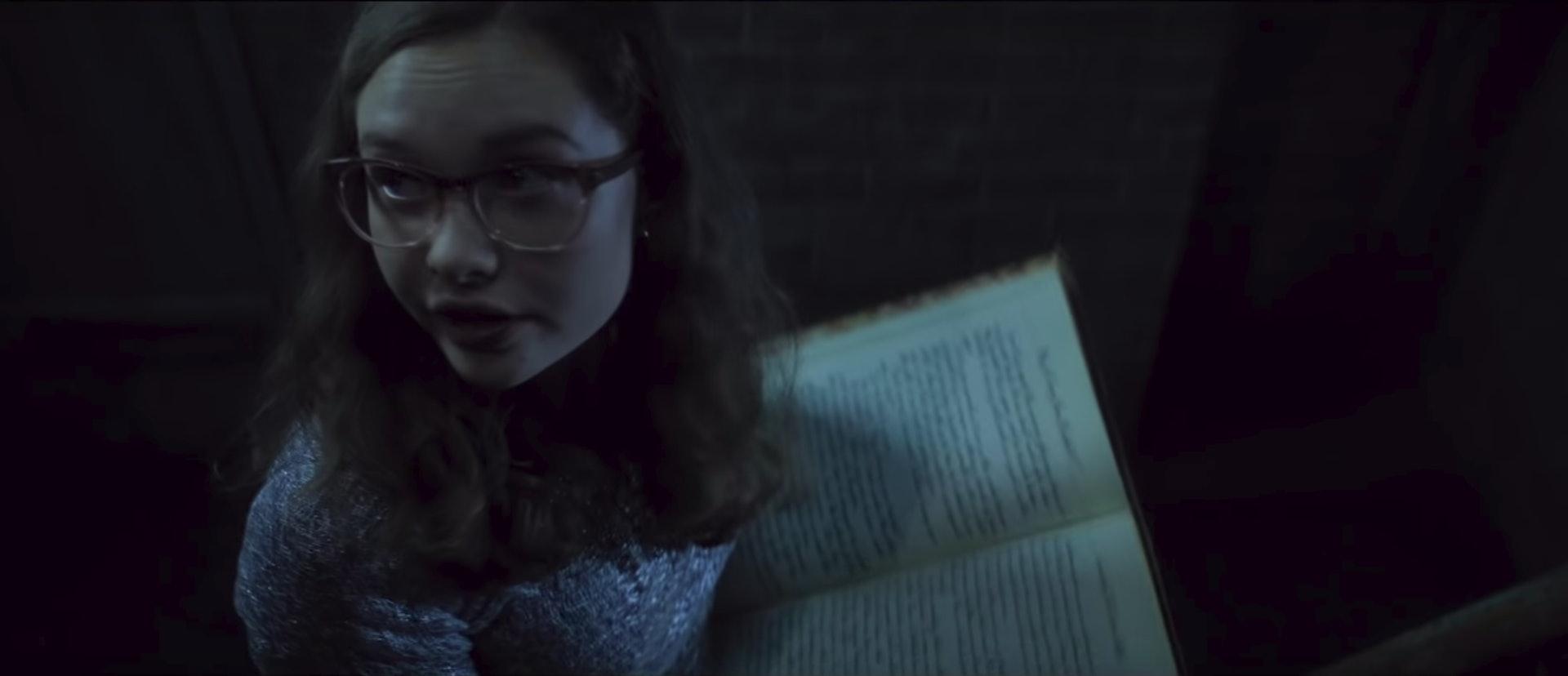 《在黑暗中說的鬼故事》兒童讀本改編成電影,粉絲又要驚多次。(網上截圖)