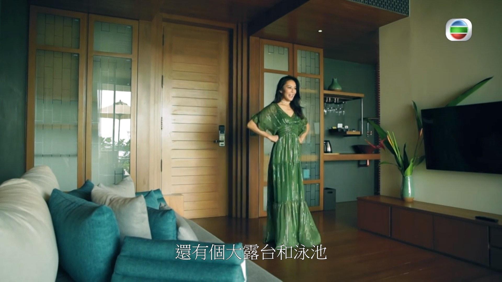 介紹酒店部份,用了多角度拍攝。(電視截圖)