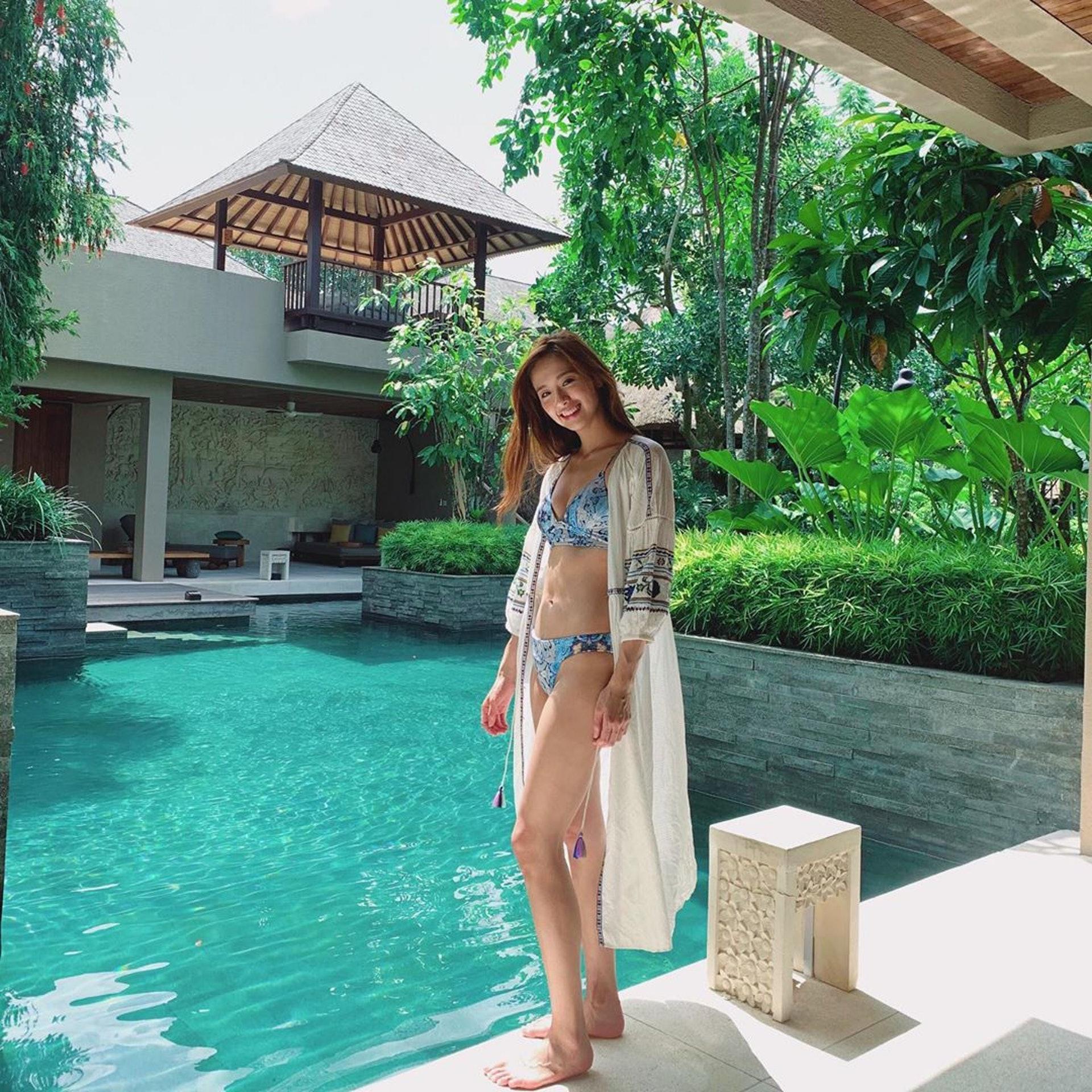 Jumbo曾淑雅日前到峇里享受陽光與海灘。(IG圖片 / jumbotsang)