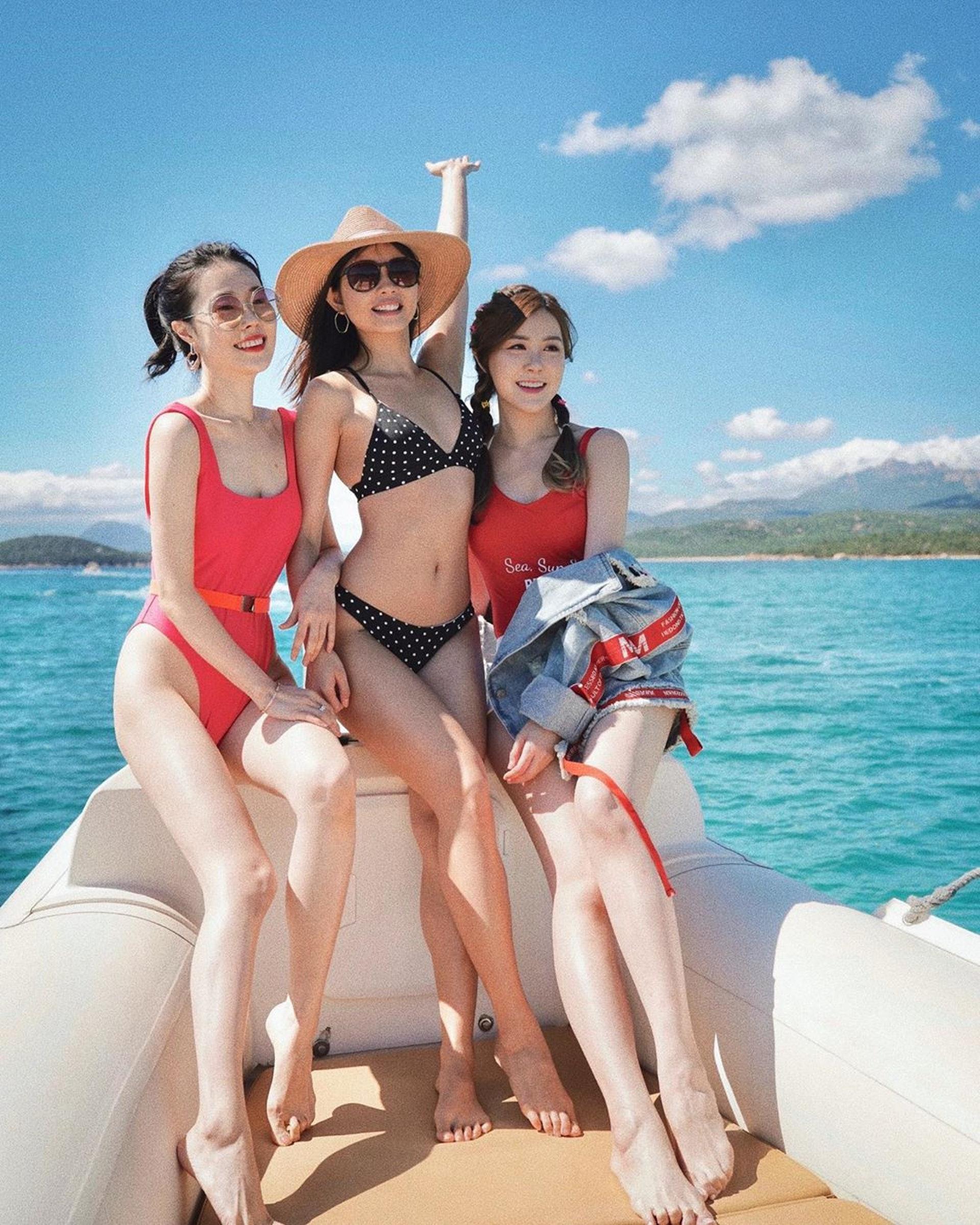 三位靚女都是長腿之人。(@Suechangg IG圖片)