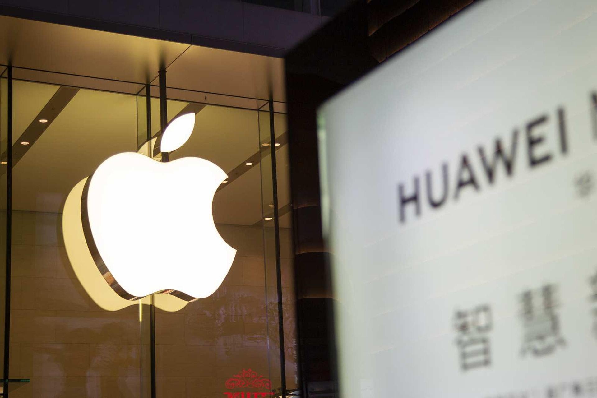 在内地,有一些人已經將用華為手機和蘋果手機上升到愛國的層面,這是非常激進的。(視覺中國)