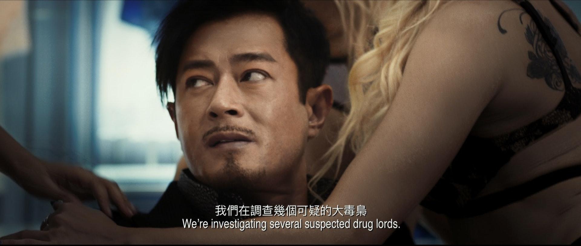 古天樂在戲中飾演地藏,是一個頭號大毒販。(《掃毒2天地對決》預告截圖)