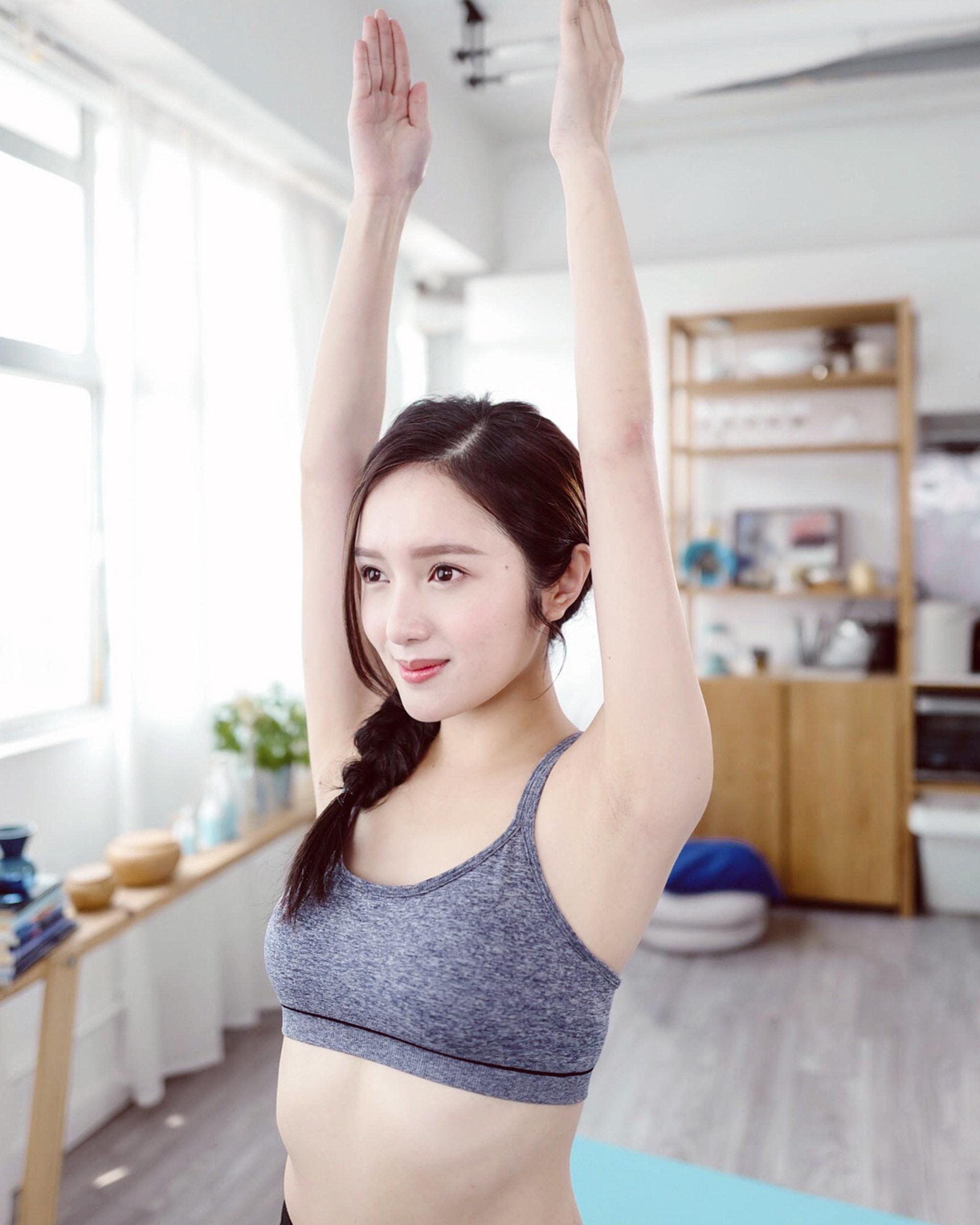 鄺潔楹平時也喜愛做運動。(IG圖片 / judy.kwong)