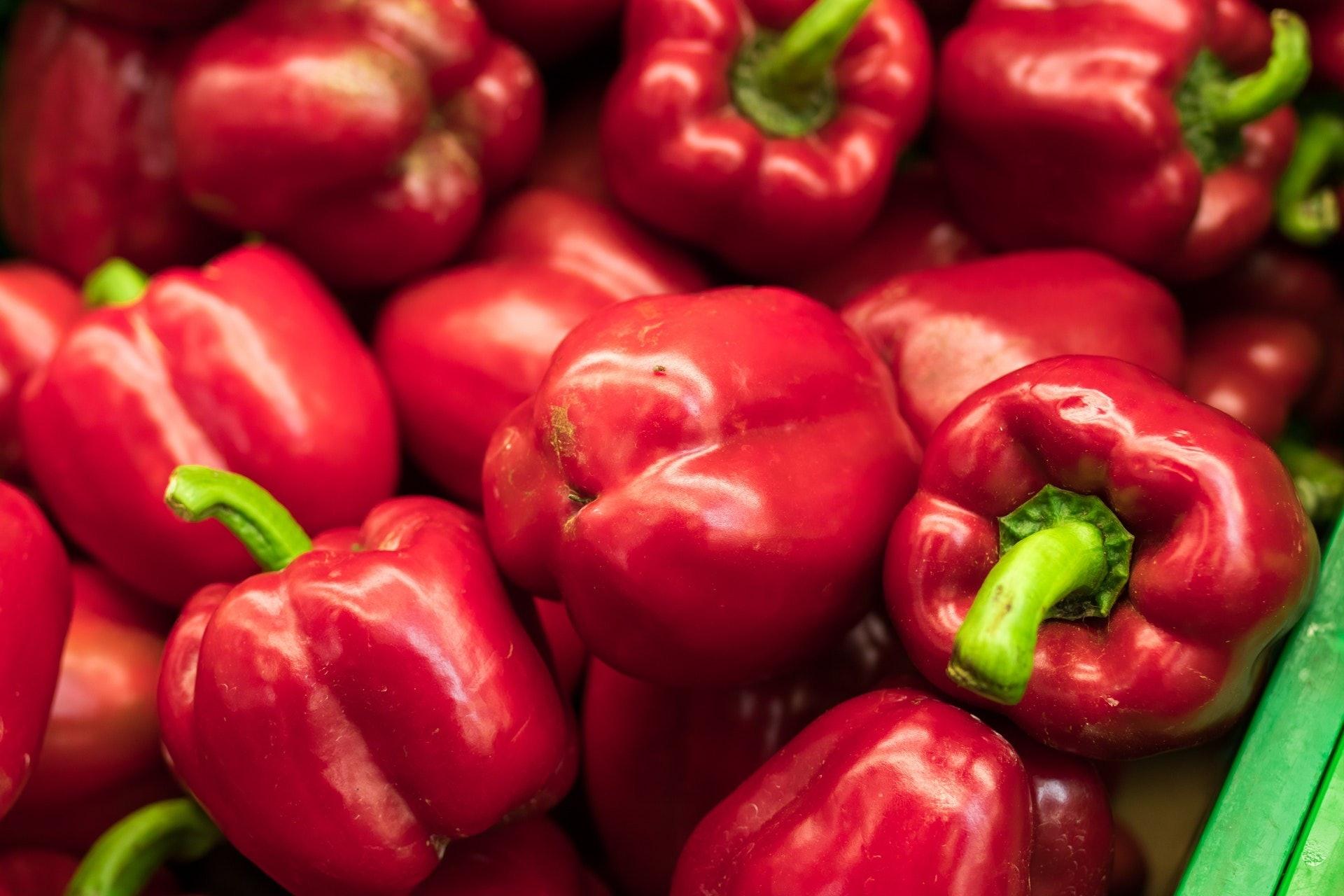 3. 紅椒|紅椒不止有維他命C、B6、維他命A、葉酸和纖維,而且低鉀,對腎臟健康原來十分有益。紅椒蘊含茄紅素,能預防部分癌症。(Pexels)