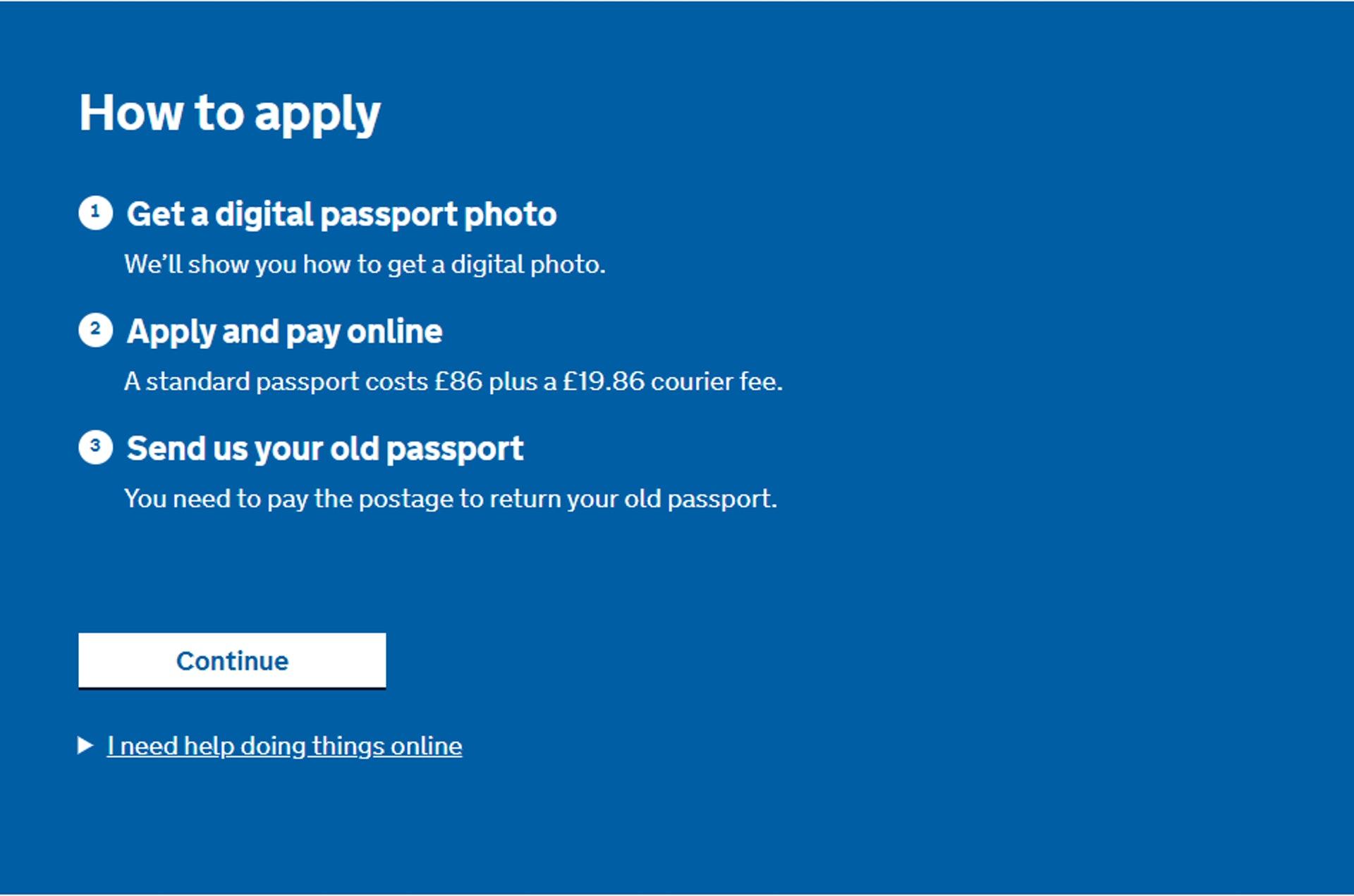 BNO申請步驟教學(GOV.UK 網站截圖)