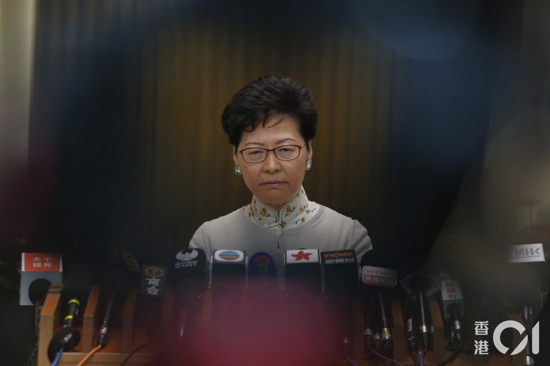 面對大批市民上街遊行示威,特首林鄭月娥表明不會撤回《逃犯條例》修訂。(資料圖片/張浩維攝)