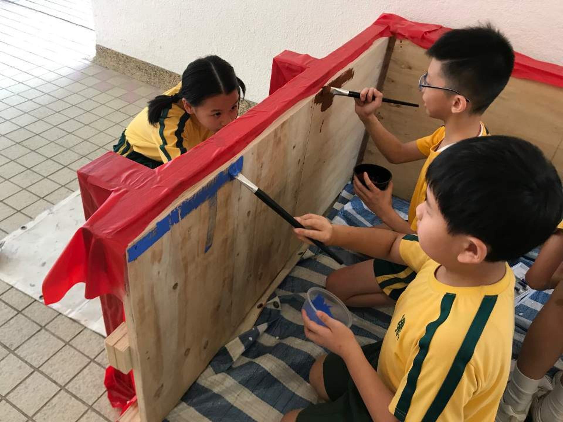 天主教柏德學校為了讓同學可以玩得更開心而努力學習,所以有了建「夢想玩具屋」的想法。